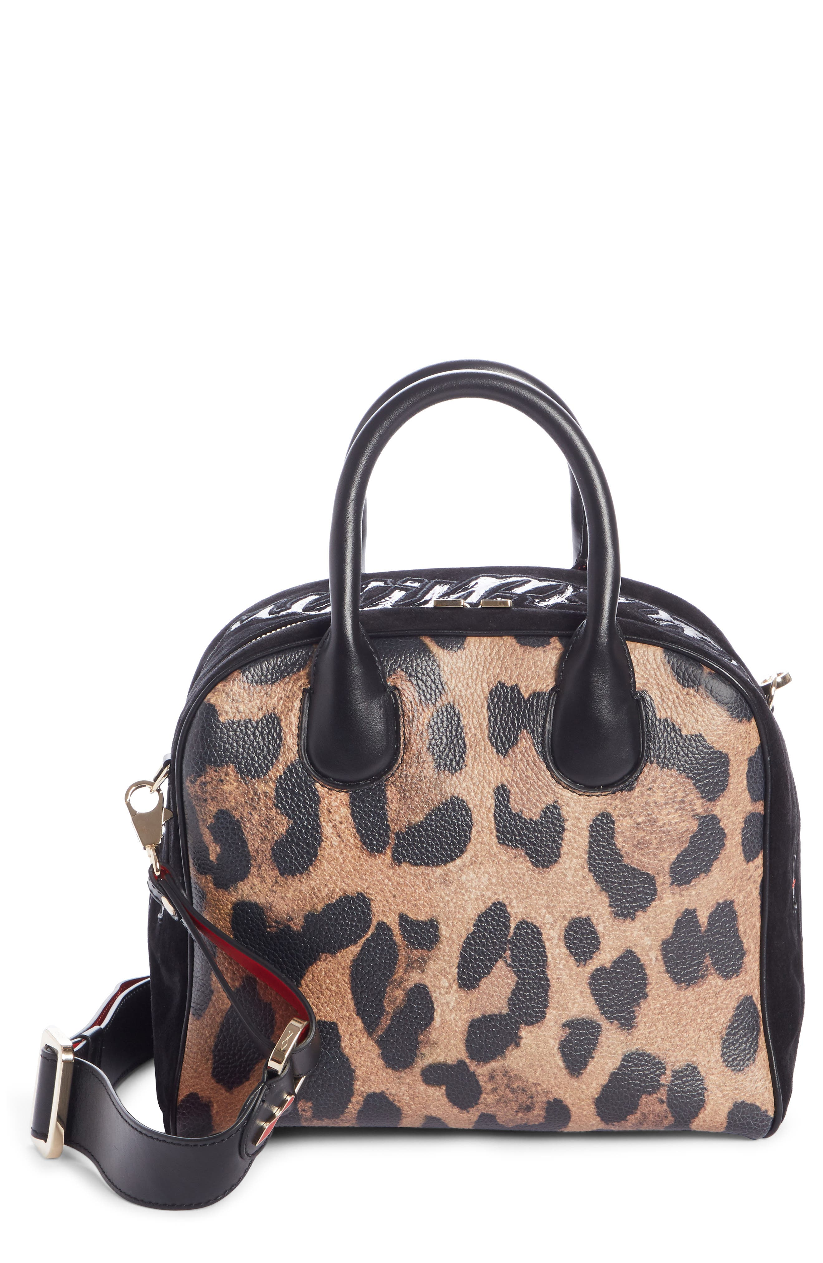 Marie Jane Small Leather & Suede Satchel, Main, color, BROWN/ BLACK/ BLACK