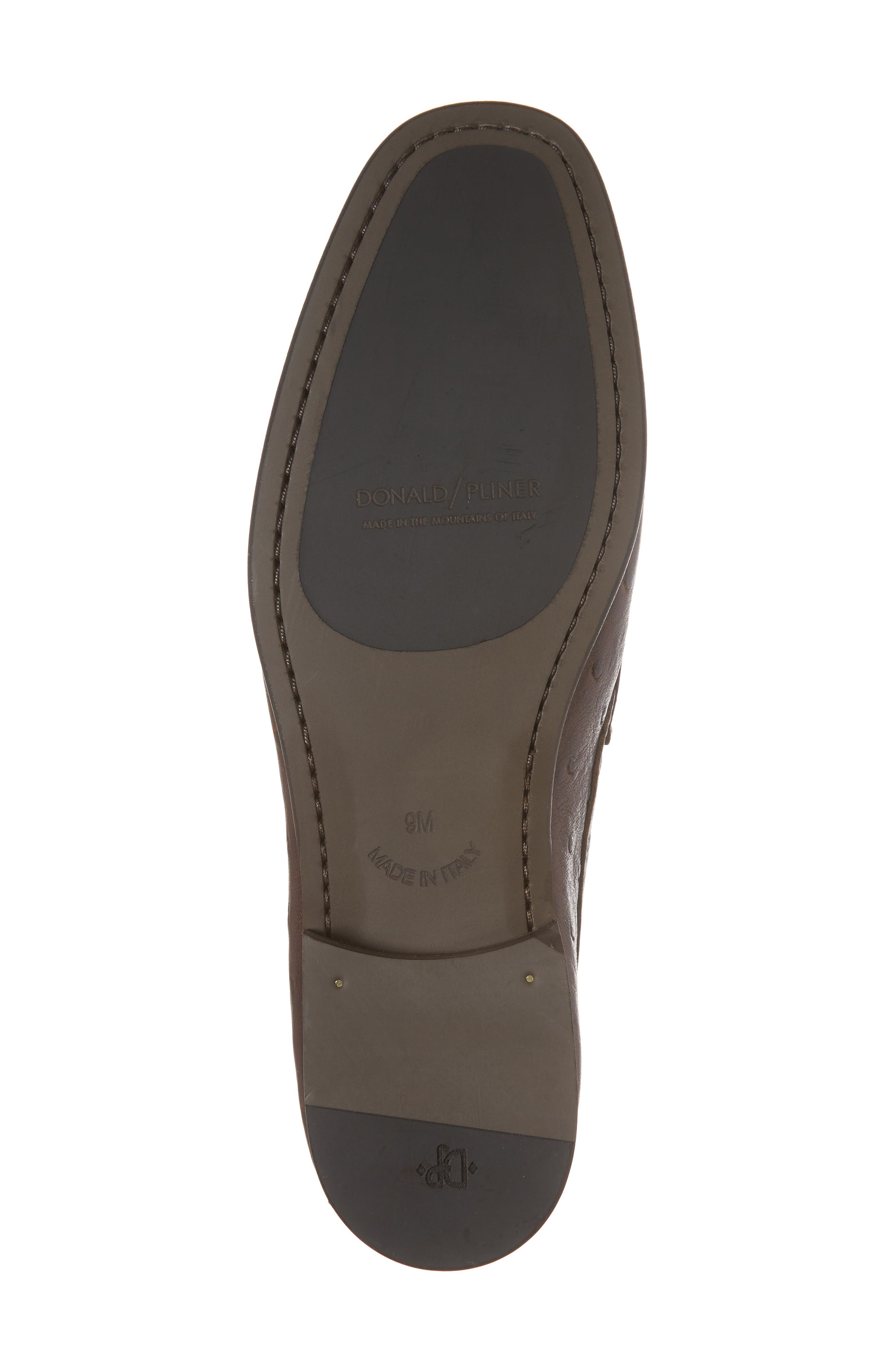 Dacio Square-Toe Loafer,                             Alternate thumbnail 6, color,                             BROWN LEATHER