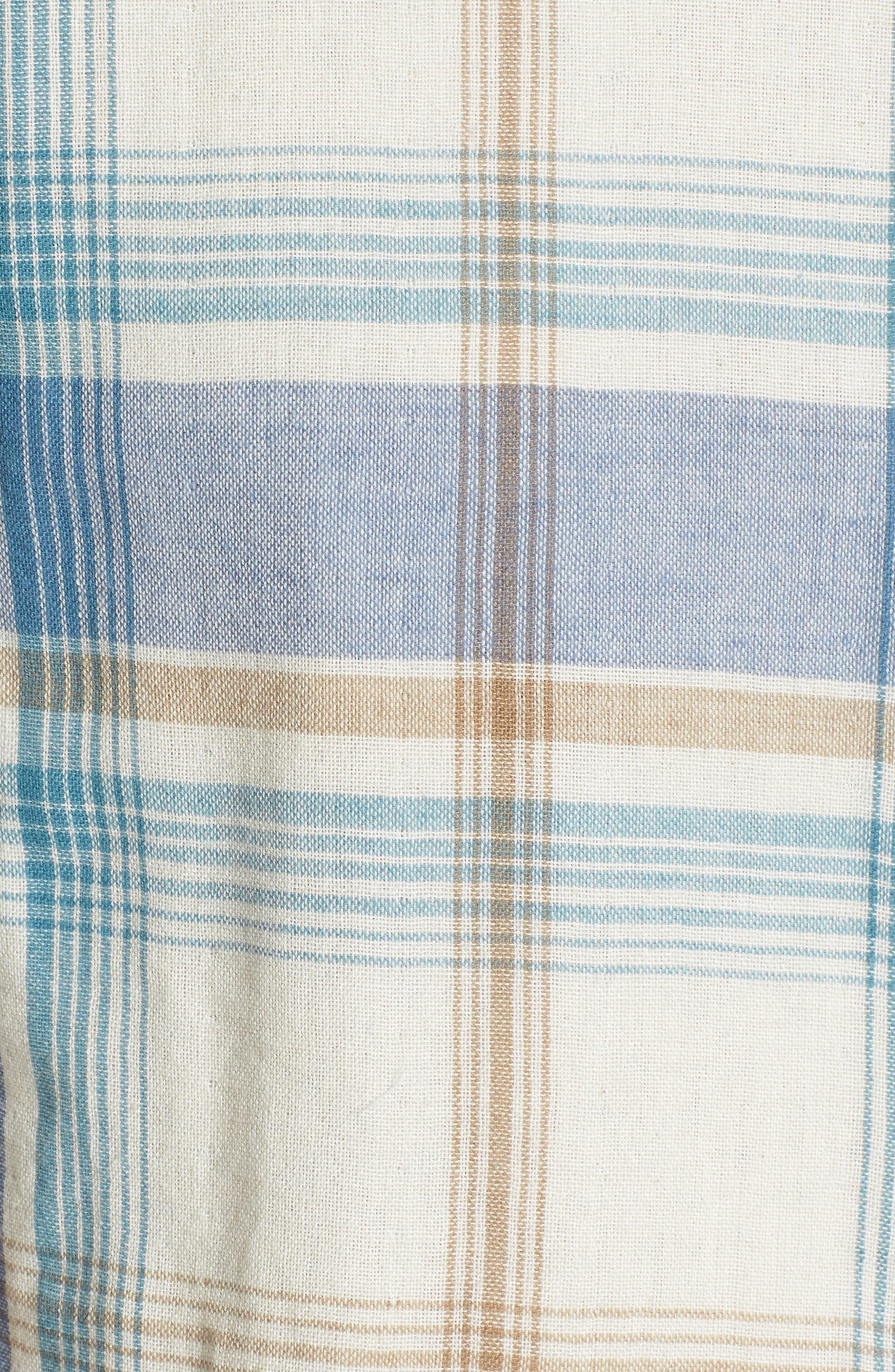 Maverick Plaid Sport Shirt,                             Alternate thumbnail 5, color,