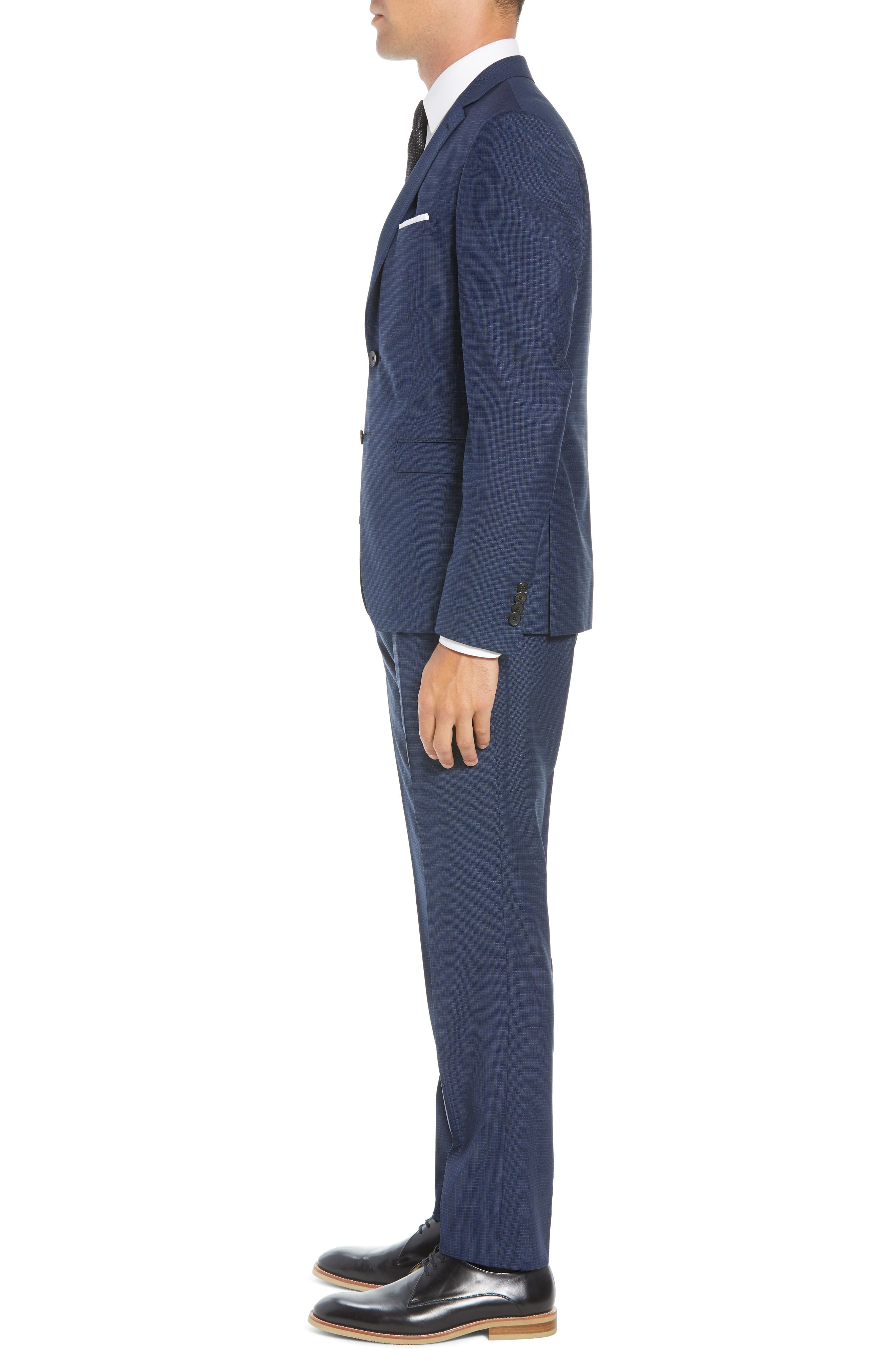 Reymond/Wenten Extra Trim Fit Check Wool Suit,                             Alternate thumbnail 3, color,                             480