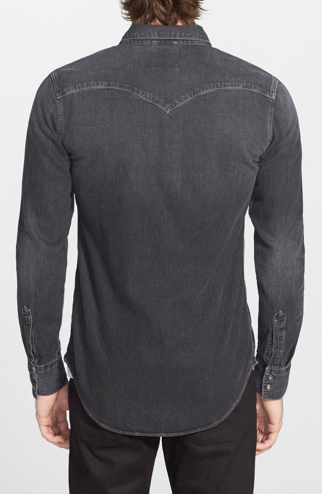 'Barstow' Denim Western Shirt,                             Alternate thumbnail 35, color,