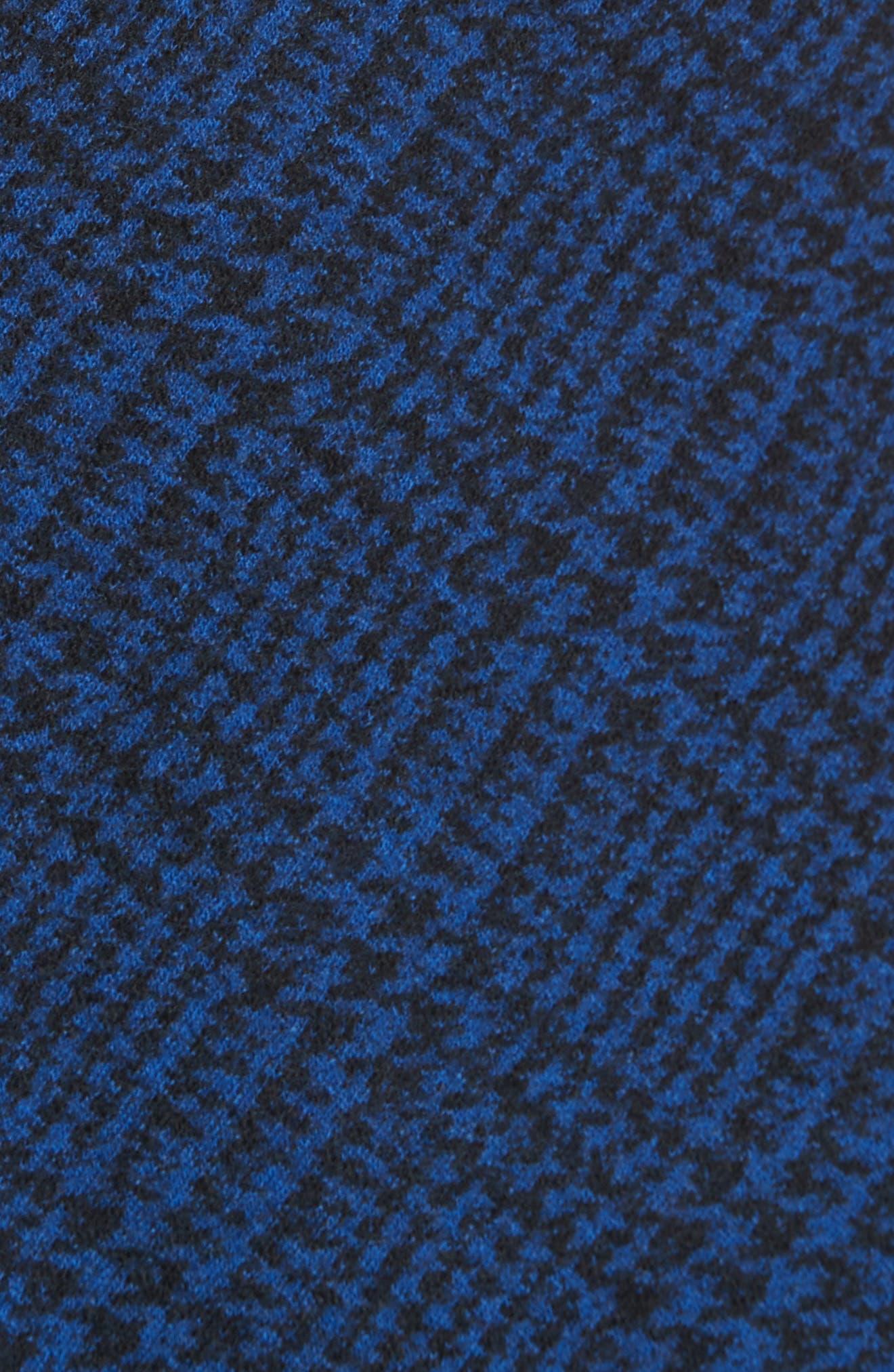 Check Jersey Asymmetrical Peplum Top,                             Alternate thumbnail 5, color,