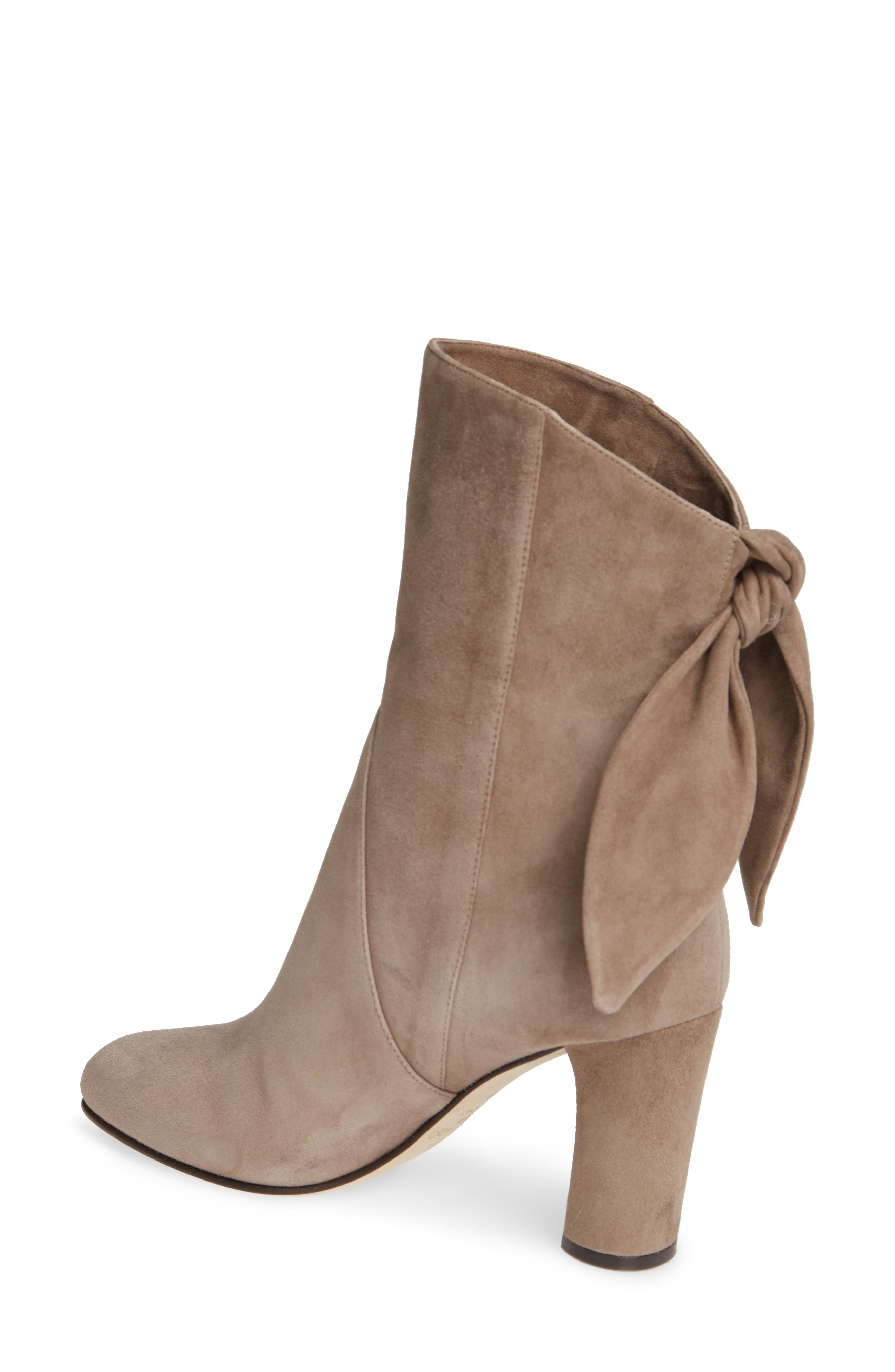 Malene Knotted Bootie,                             Alternate thumbnail 2, color,                             STONE SUEDE