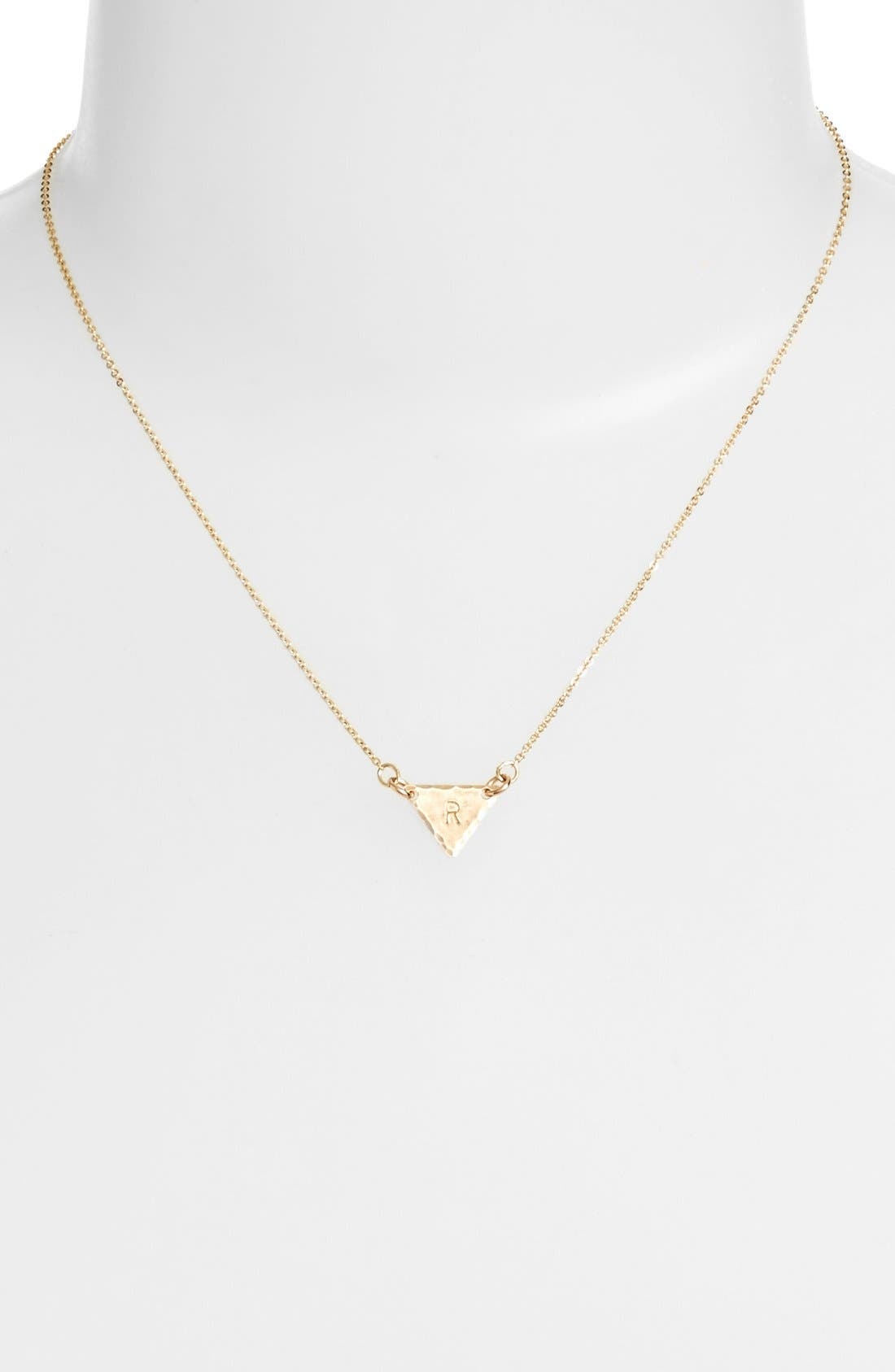 14k-Gold Fill Initial Triangle Necklace,                             Alternate thumbnail 44, color,