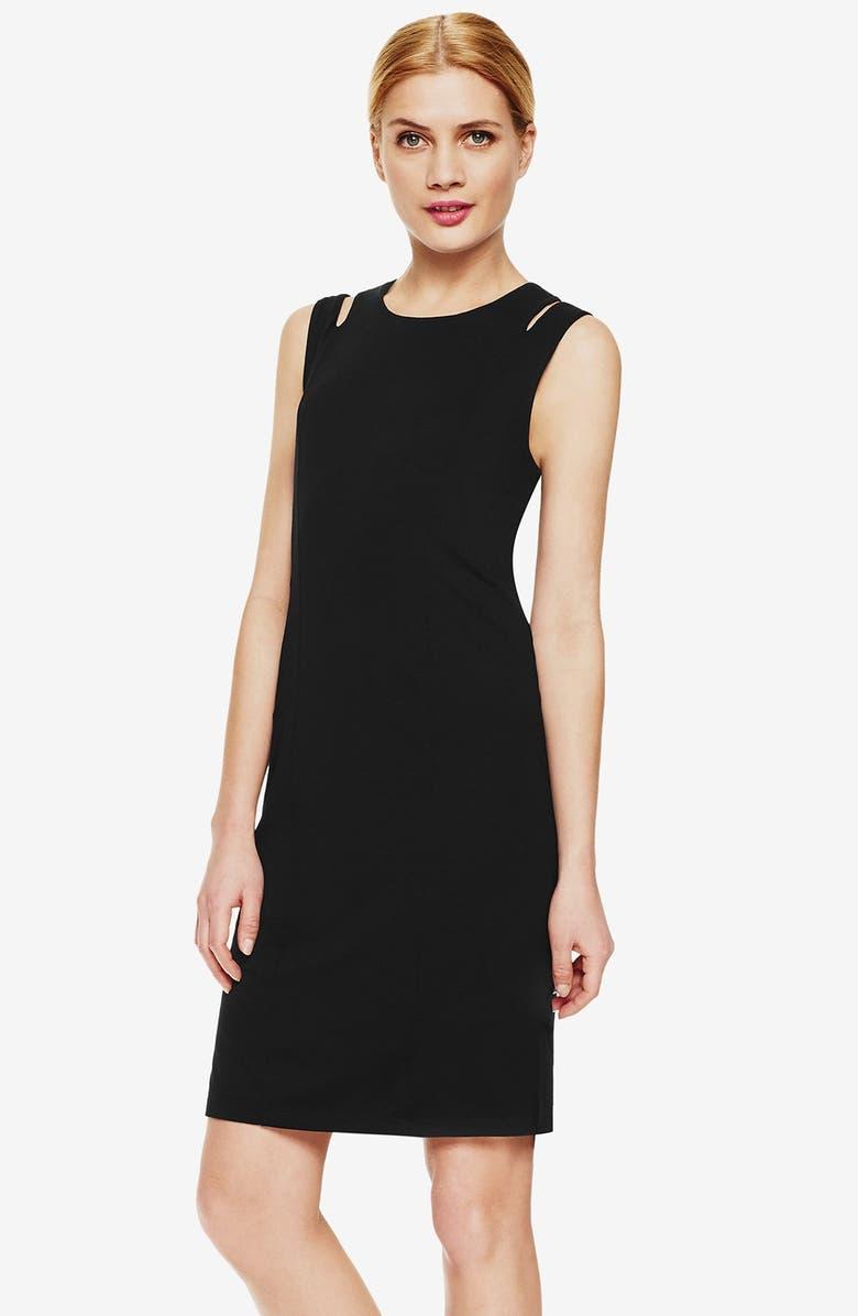 403de04833 Vince Camuto Shoulder Cutout Sleeveless Sheath Dress