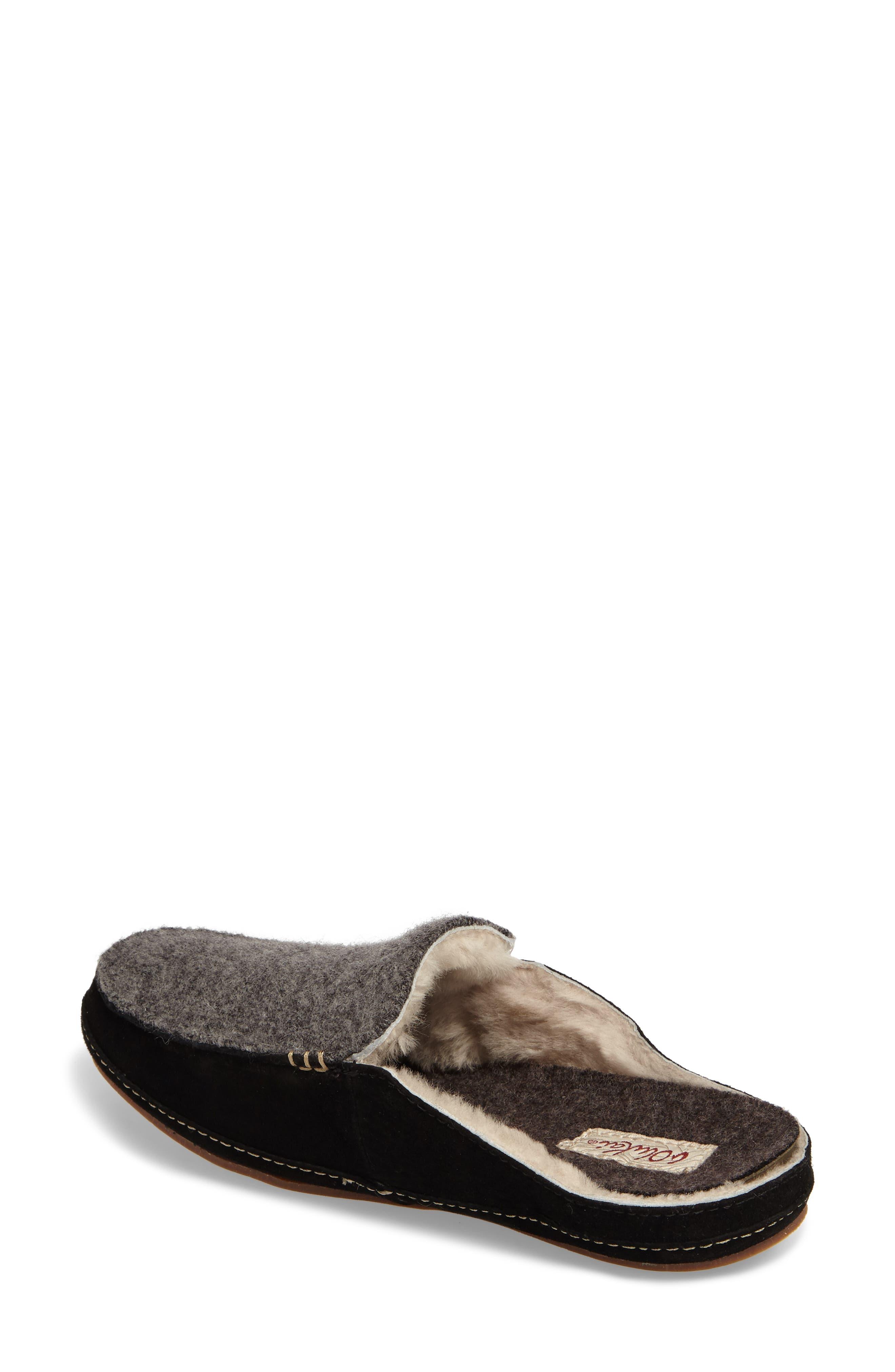 Alaula Genuine Shearling Lined Slipper,                             Alternate thumbnail 2, color,                             087