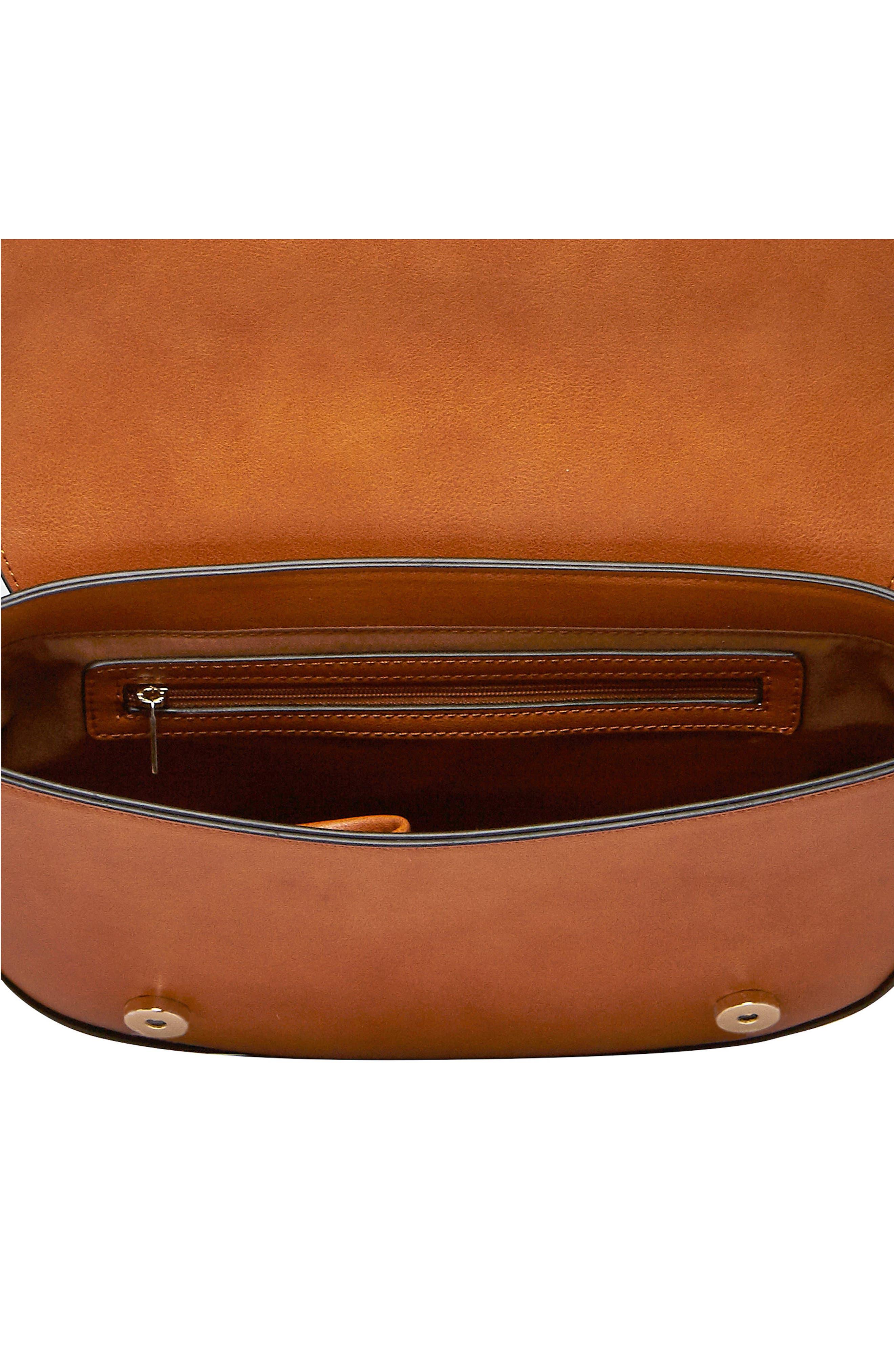 Lola Vegan Leather Crossbody Saddle Bag,                             Alternate thumbnail 2, color,                             TAN
