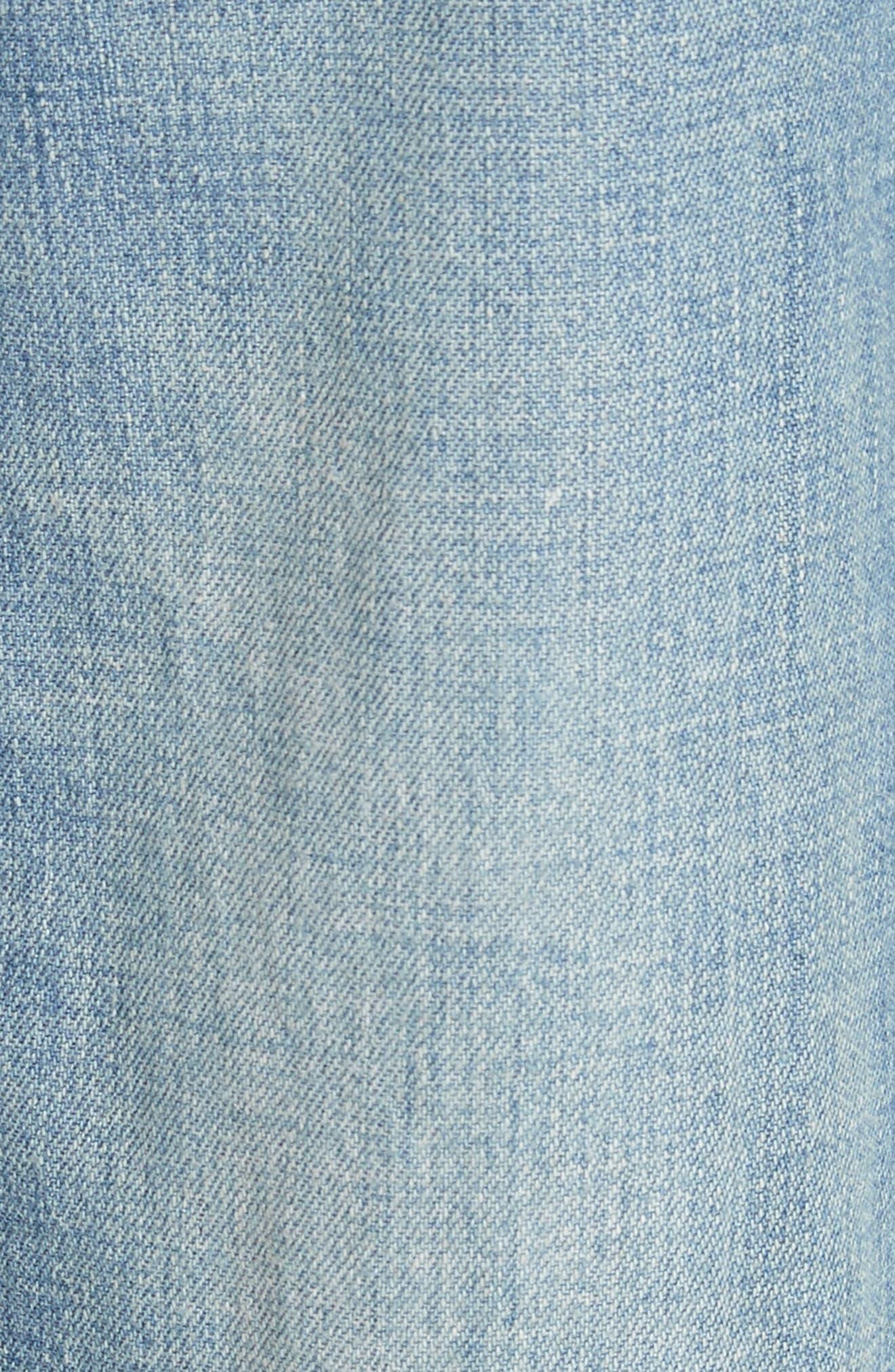 Drapey Denim Wide Leg Pants,                             Alternate thumbnail 5, color,                             434