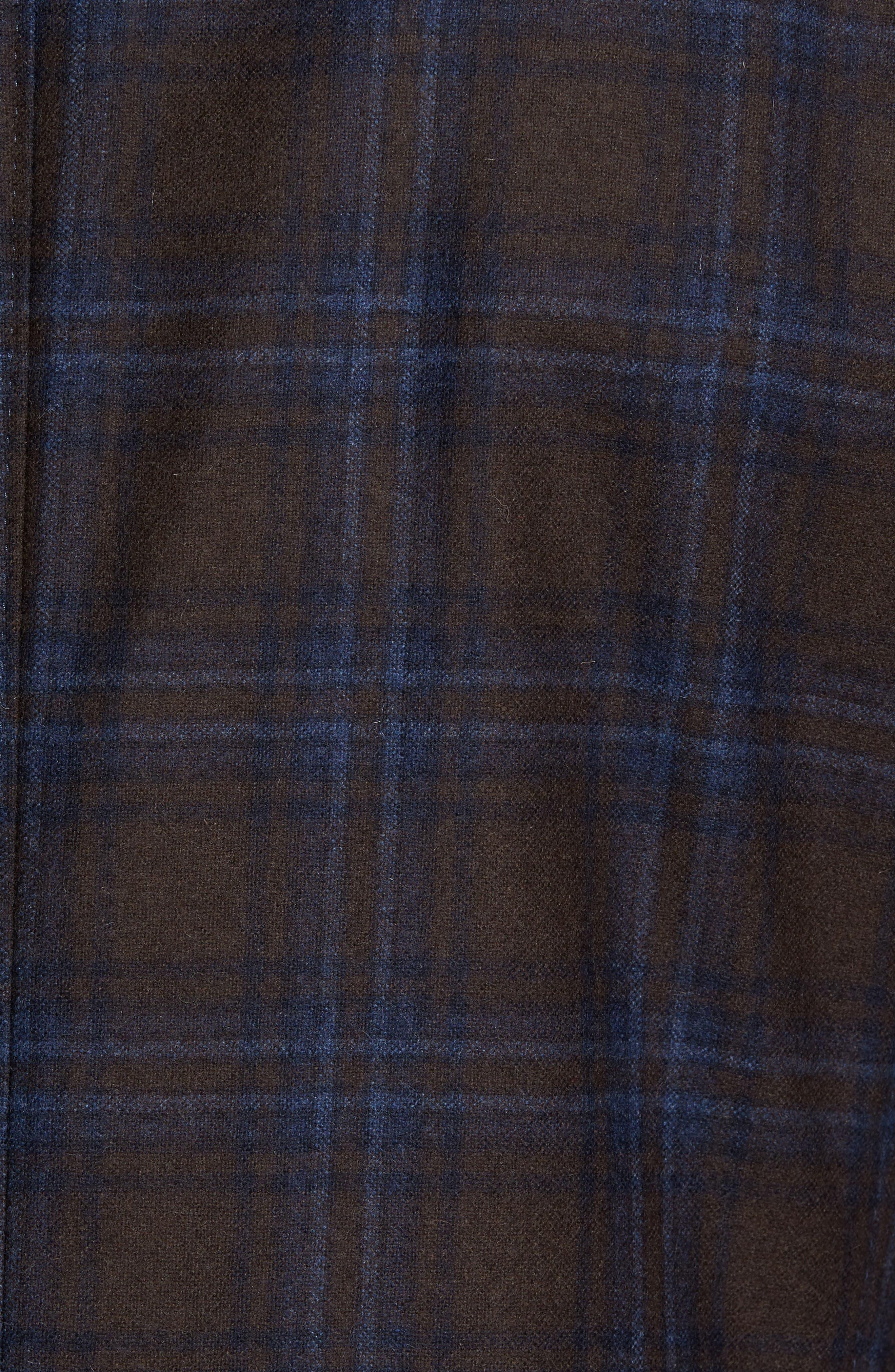 Trim Fit Plaid Wool Blend Sport Coat,                             Alternate thumbnail 6, color,                             230