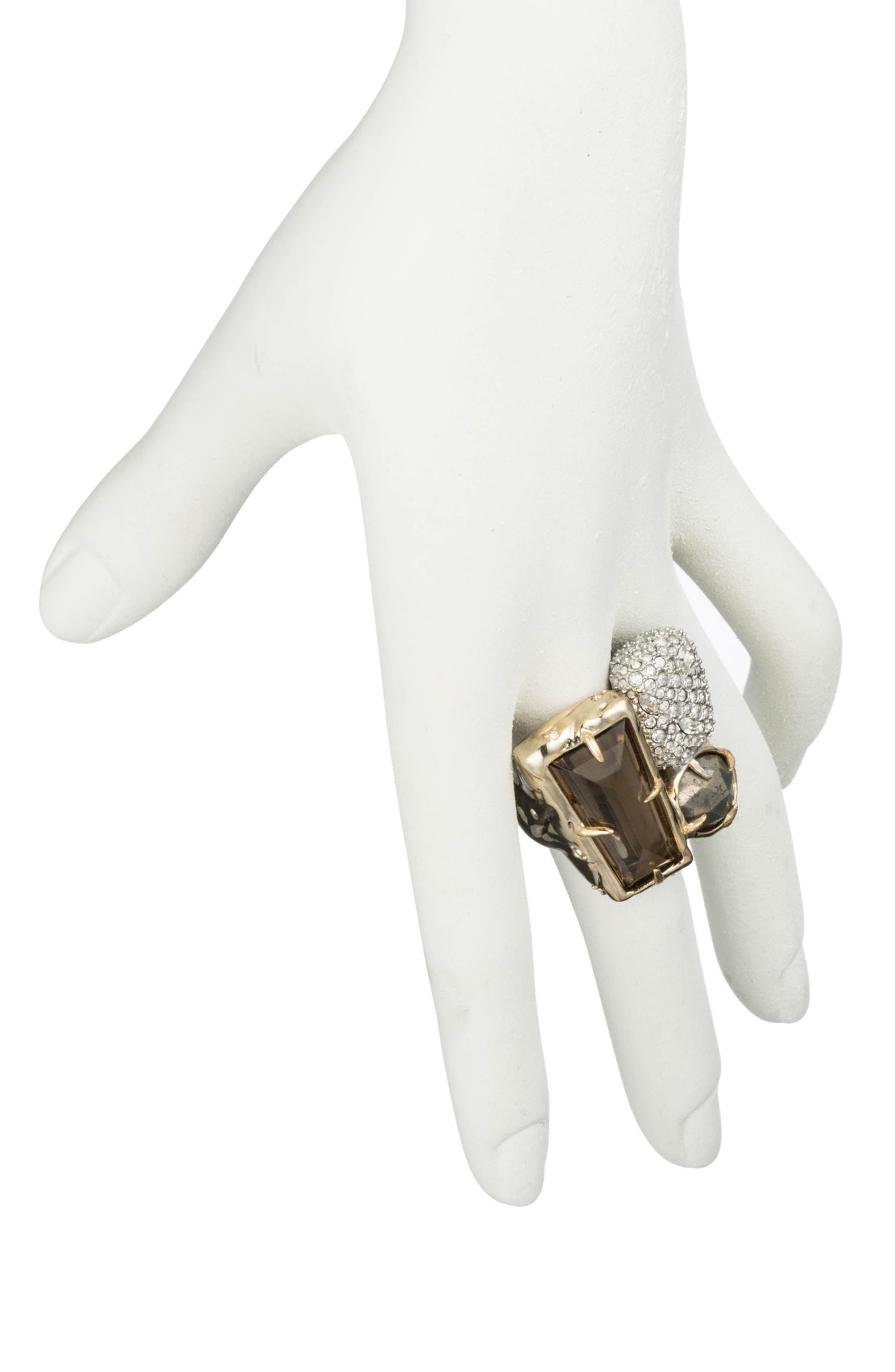 Elements Crystal Statement Ring,                             Alternate thumbnail 2, color,