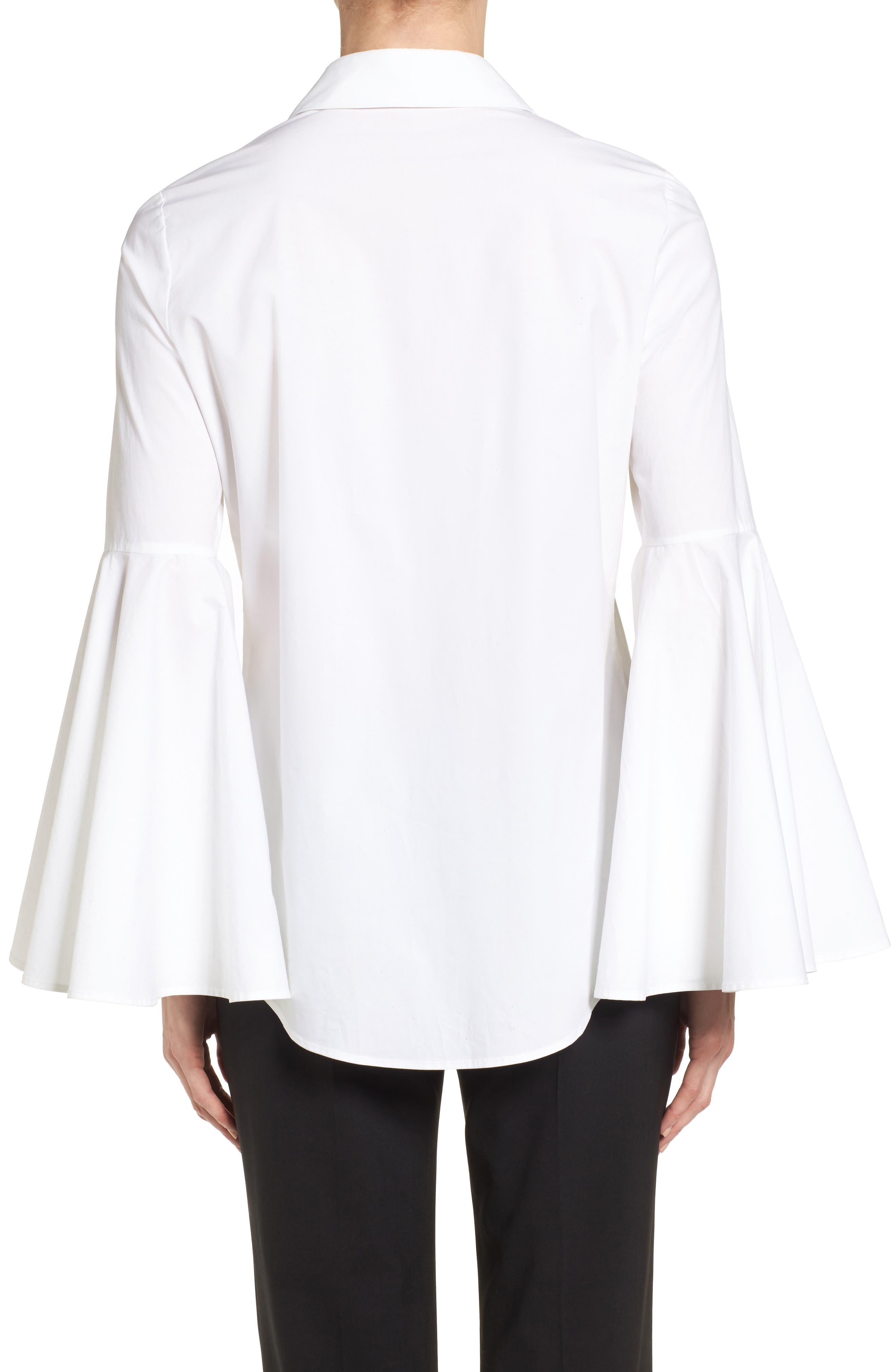 Bell Sleeve Shirt,                             Alternate thumbnail 4, color,