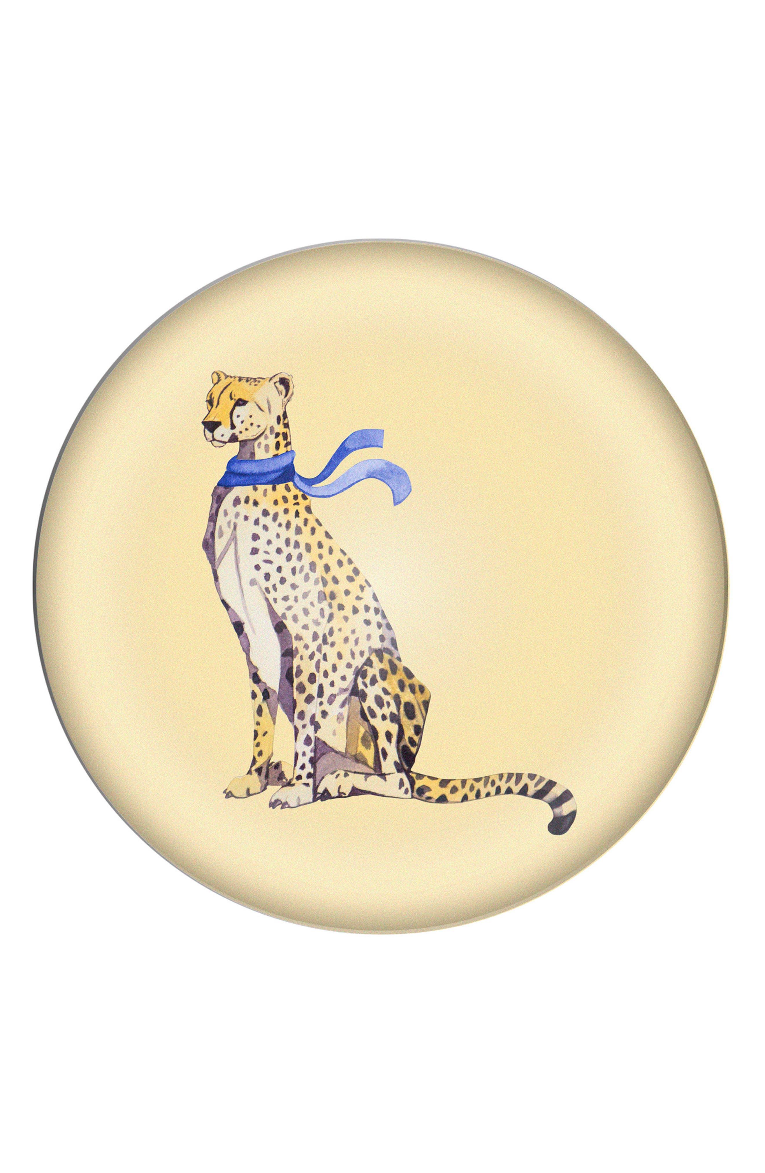 Cheetah Domed Glass Paperweight,                             Main thumbnail 1, color,                             700