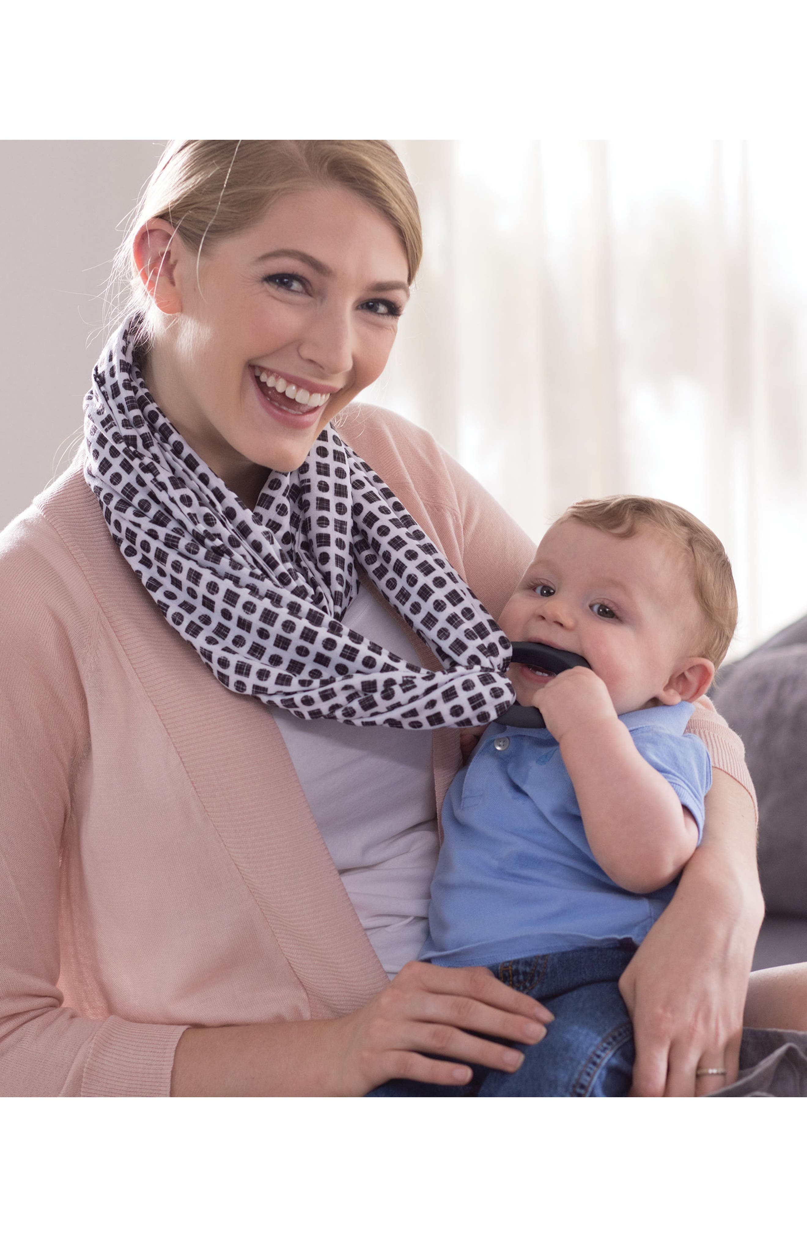 Teething Infinity Scarf,                             Alternate thumbnail 7, color,                             001