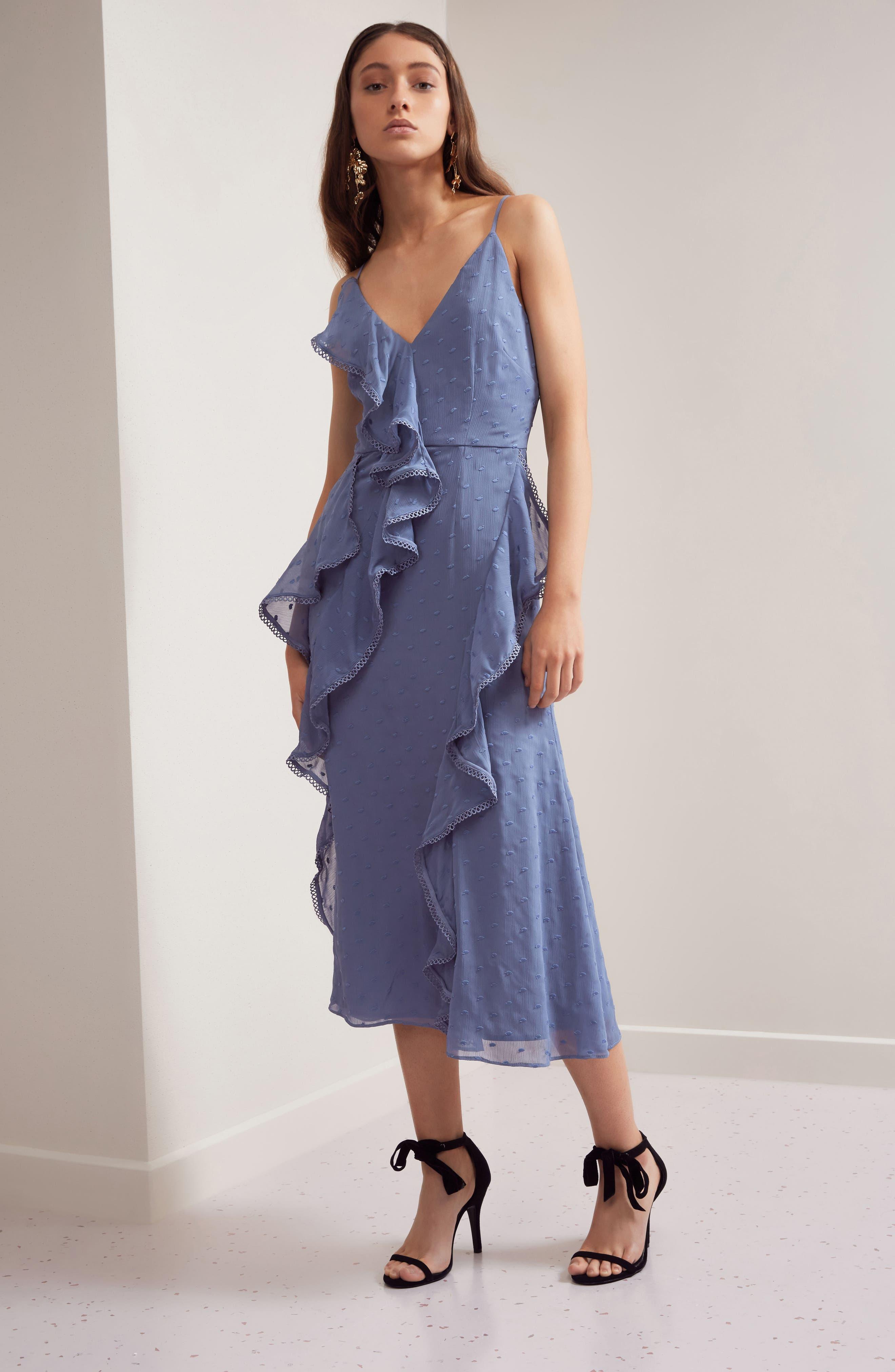 Hideaway Midi Dress,                             Alternate thumbnail 7, color,                             400
