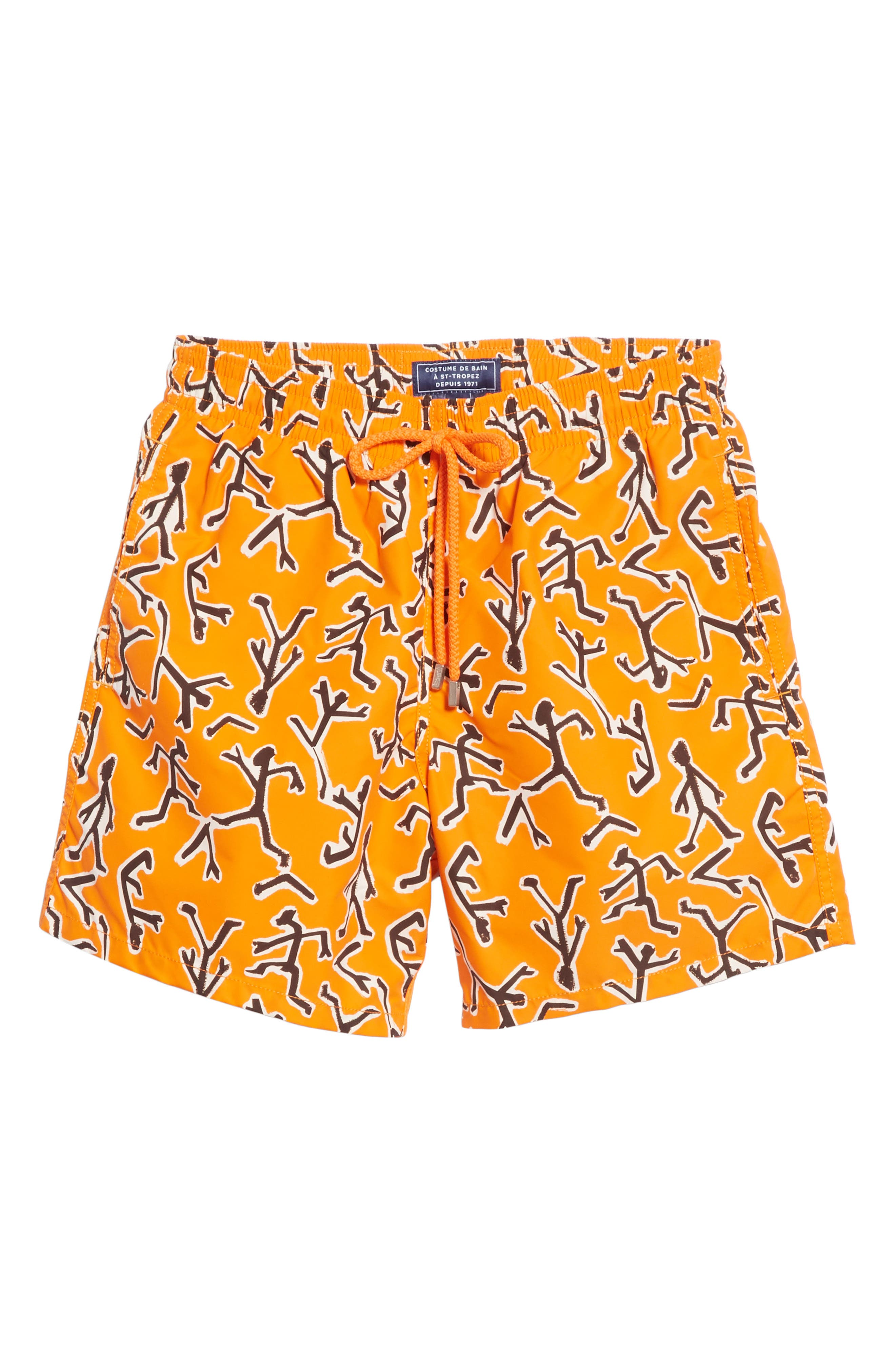 Fire Dance Swim Trunks,                             Alternate thumbnail 6, color,                             PAPAYA