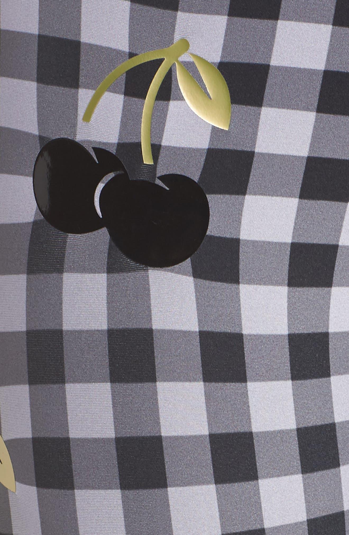 Ultra Cherry Check Leggings,                             Alternate thumbnail 6, color,                             002