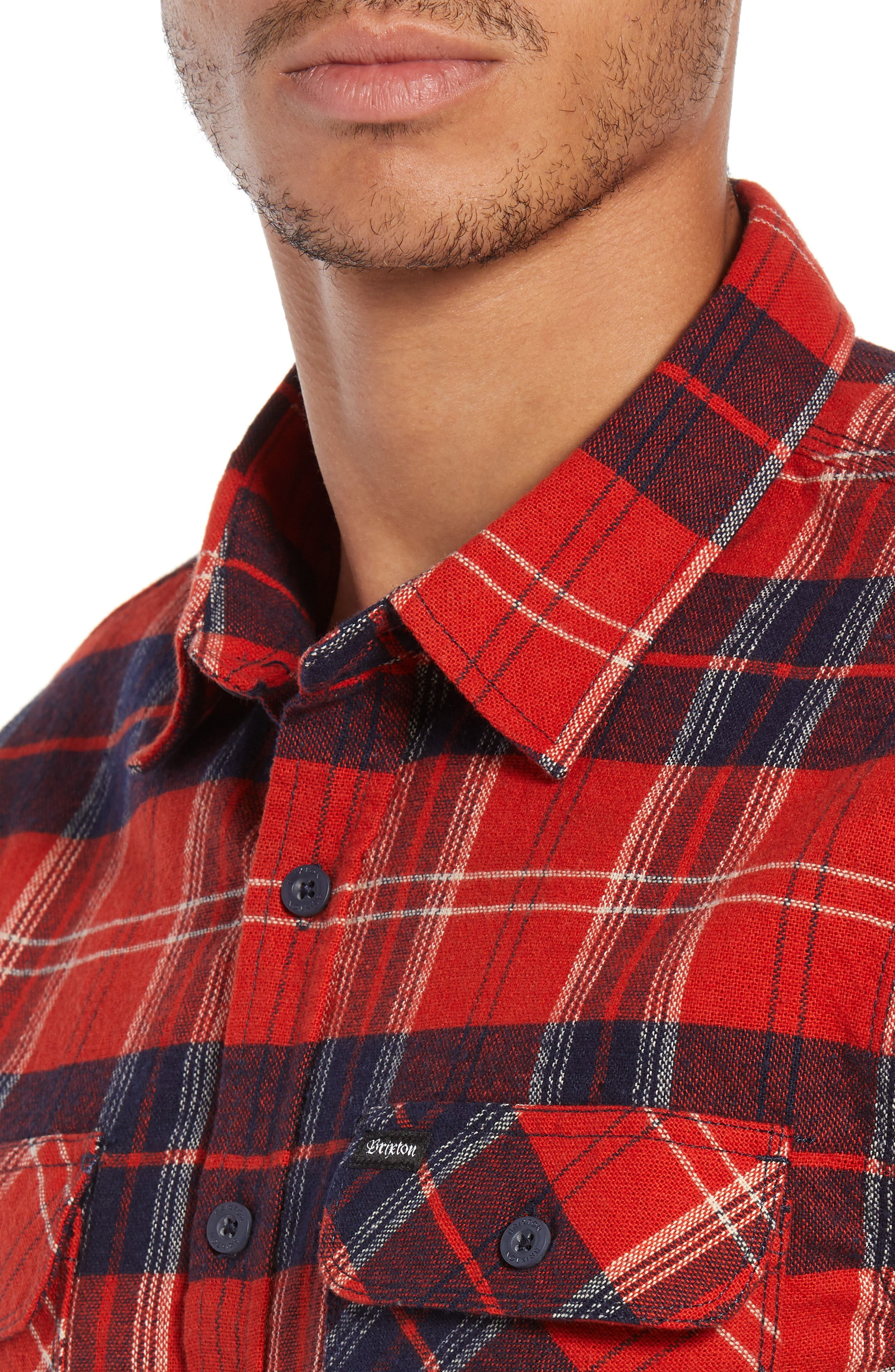 Bowery Flannel Shirt,                             Alternate thumbnail 42, color,