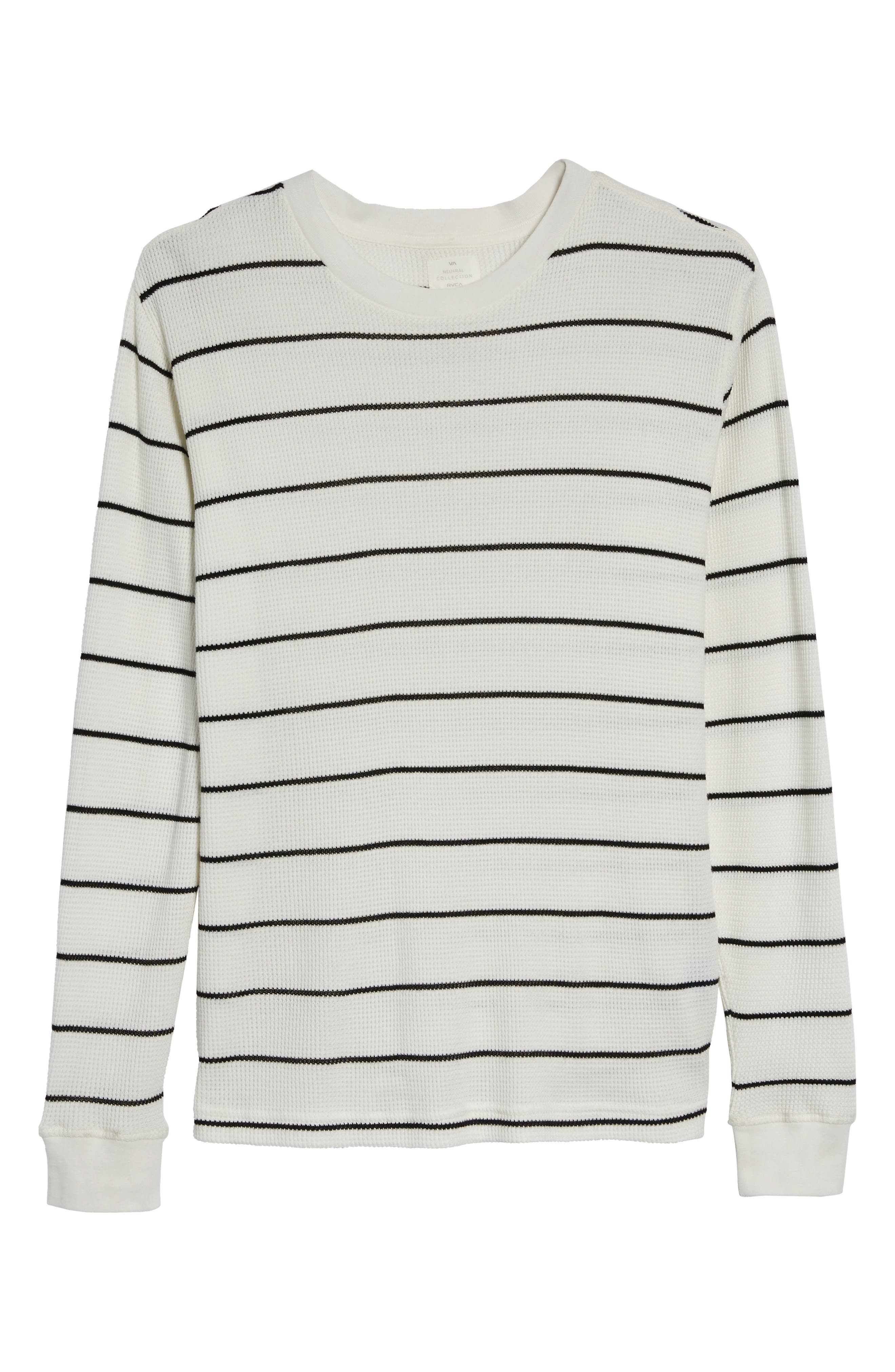 Neutral Stripe Thermal T-Shirt,                             Alternate thumbnail 6, color,                             111