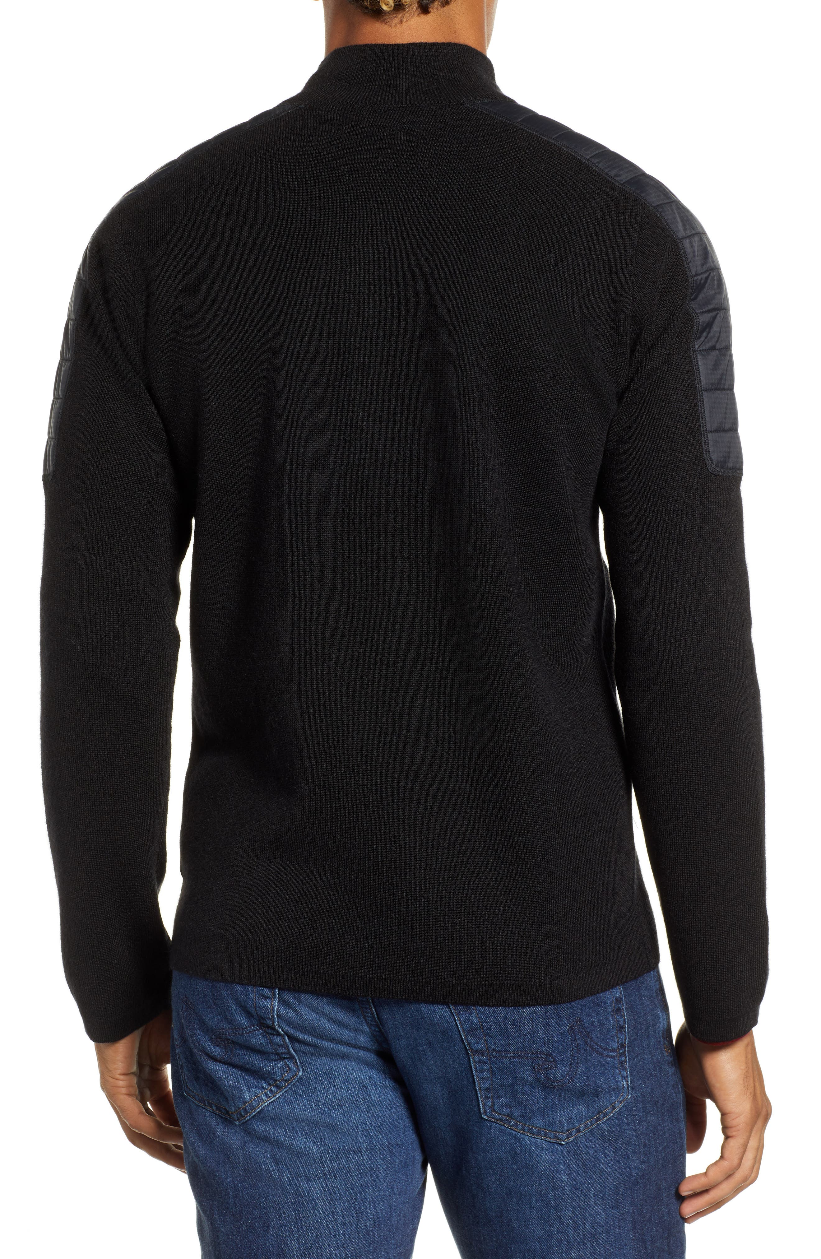 SMARTWOOL,                             Ski Ninja Pullover Sweater,                             Alternate thumbnail 2, color,                             BLACK