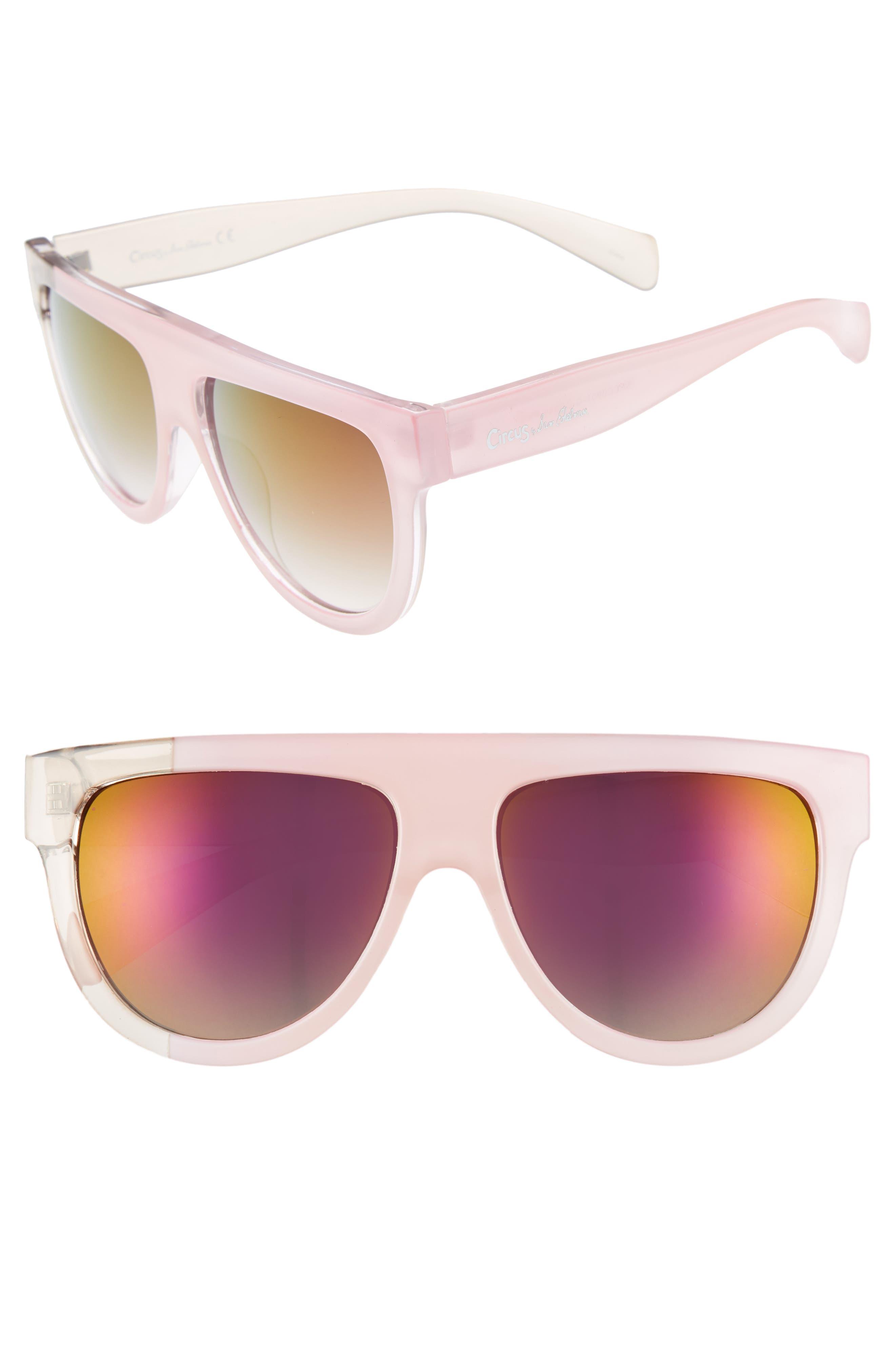68mm Flat Top Sunglasses,                             Main thumbnail 2, color,