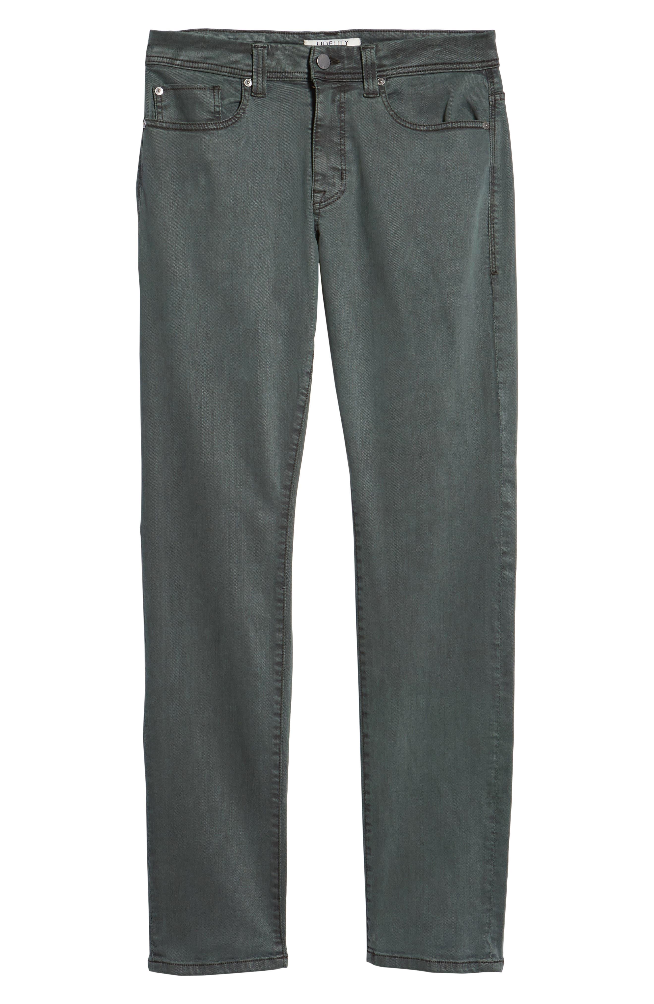 Jimmy Slim Straight Leg Pants,                             Alternate thumbnail 6, color,                             SPRUCE