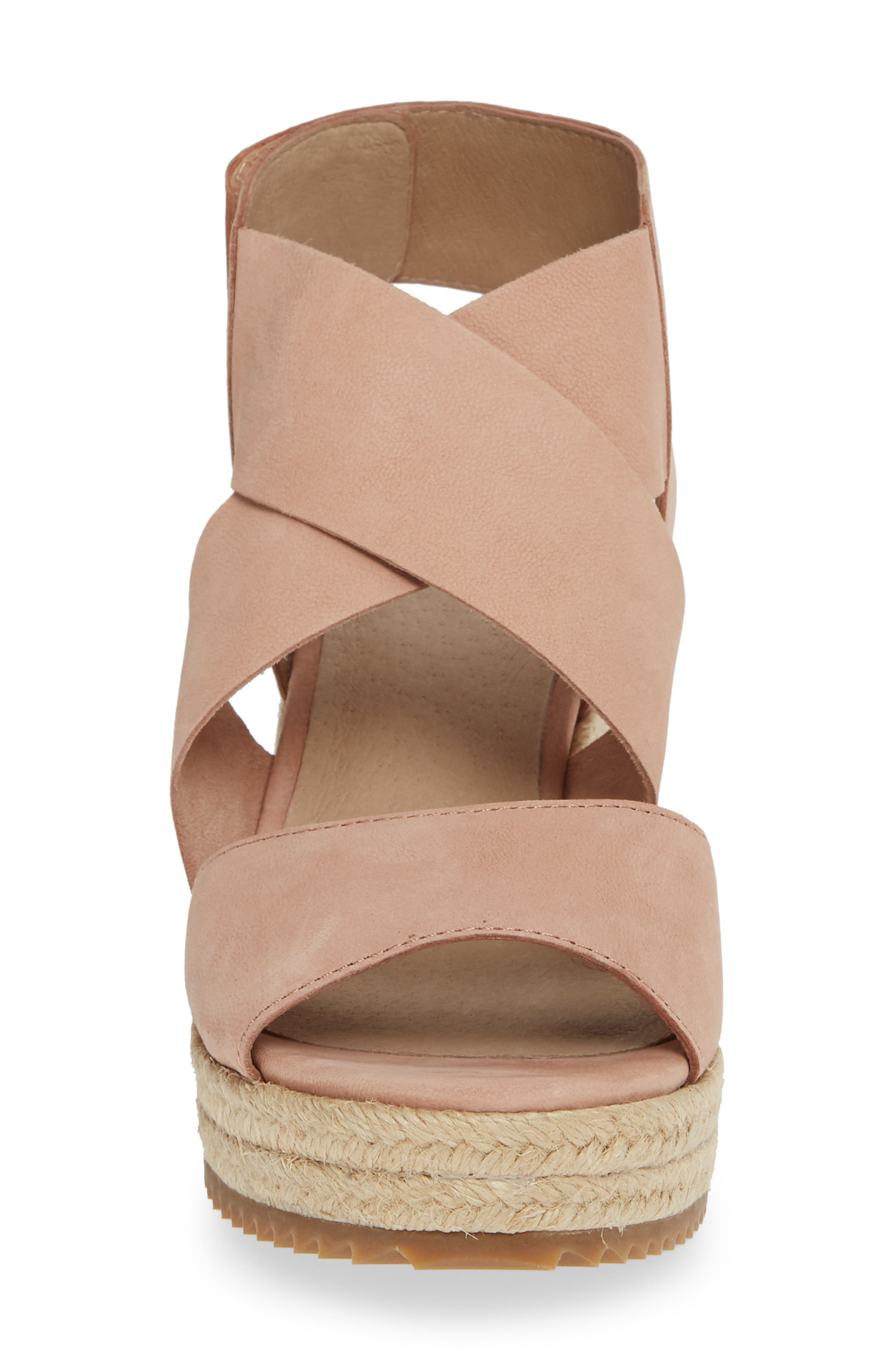 'Willow' Espadrille Wedge Sandal,                             Alternate thumbnail 4, color,                             TOFFEE CREAM NUBUCK