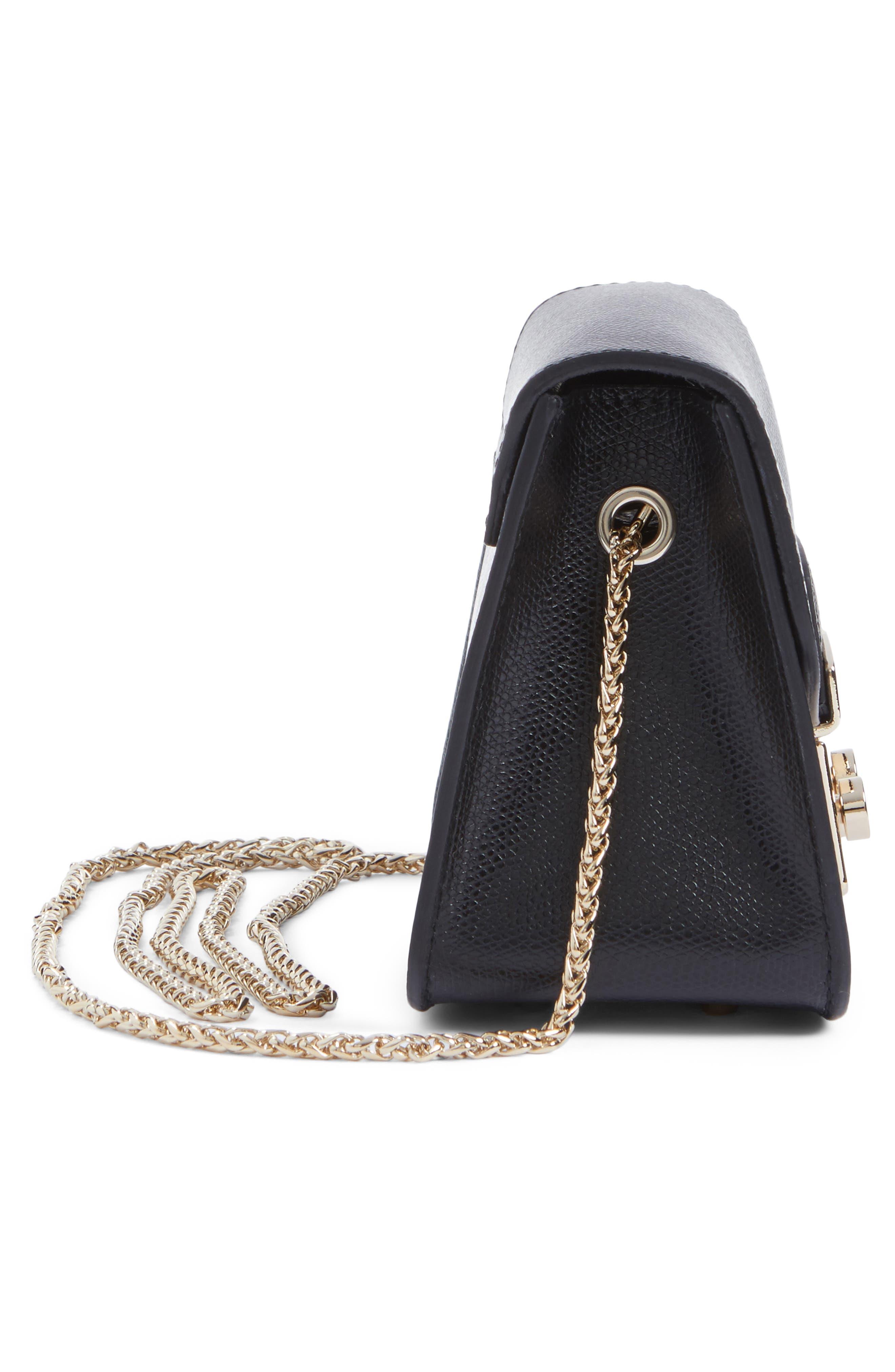 Mini Metropolis Leather Crossbody Bag,                             Alternate thumbnail 5, color,                             004