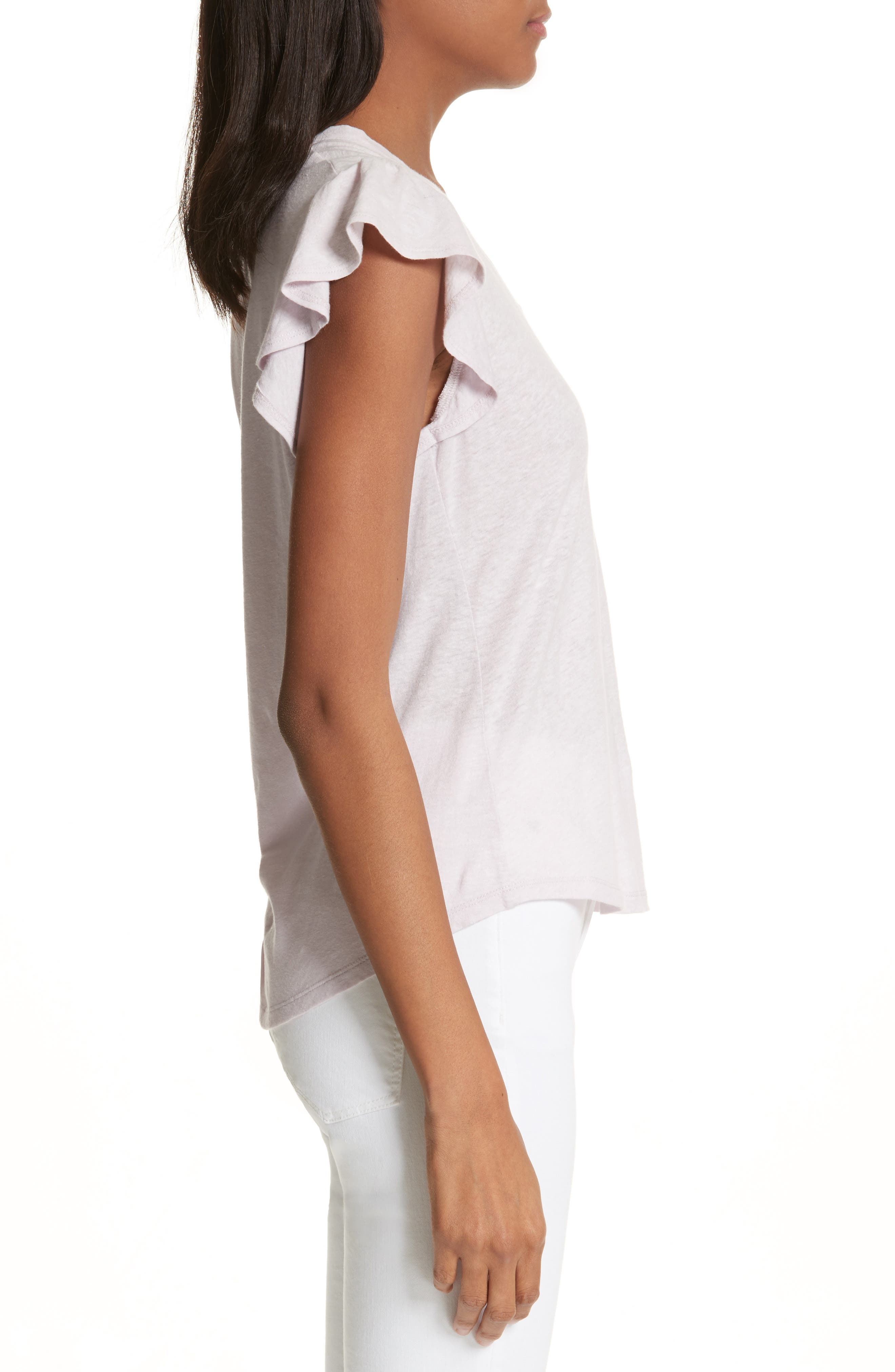 Flutter Sleeve Tee,                             Alternate thumbnail 3, color,                             661
