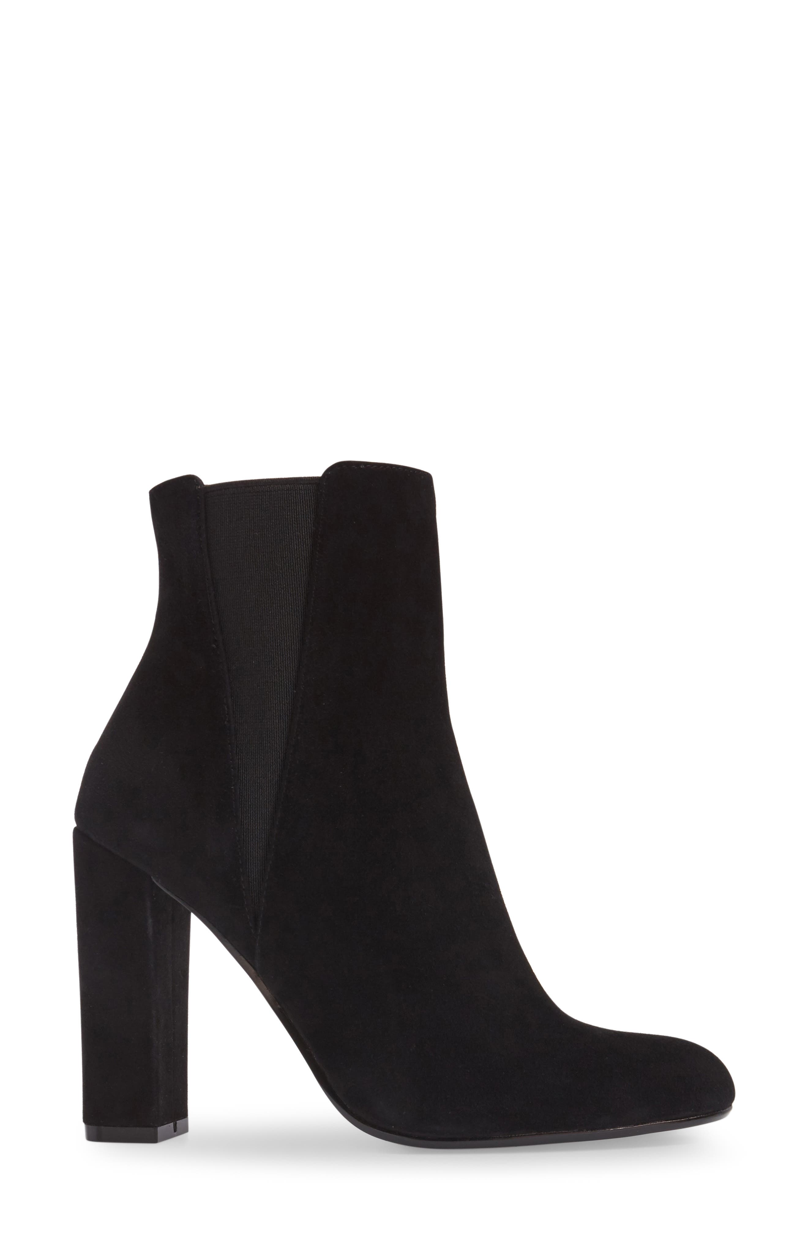 Effect Block Heel Bootie,                             Alternate thumbnail 3, color,                             006