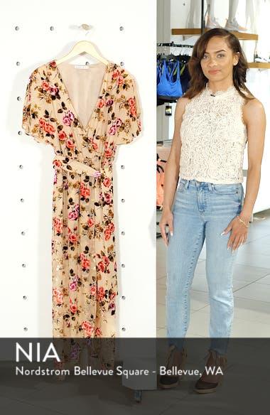 Clarine Floral Faux Wrap Dress, sales video thumbnail