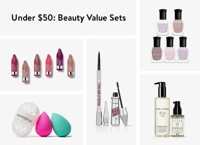 Beauty value sets under $50.