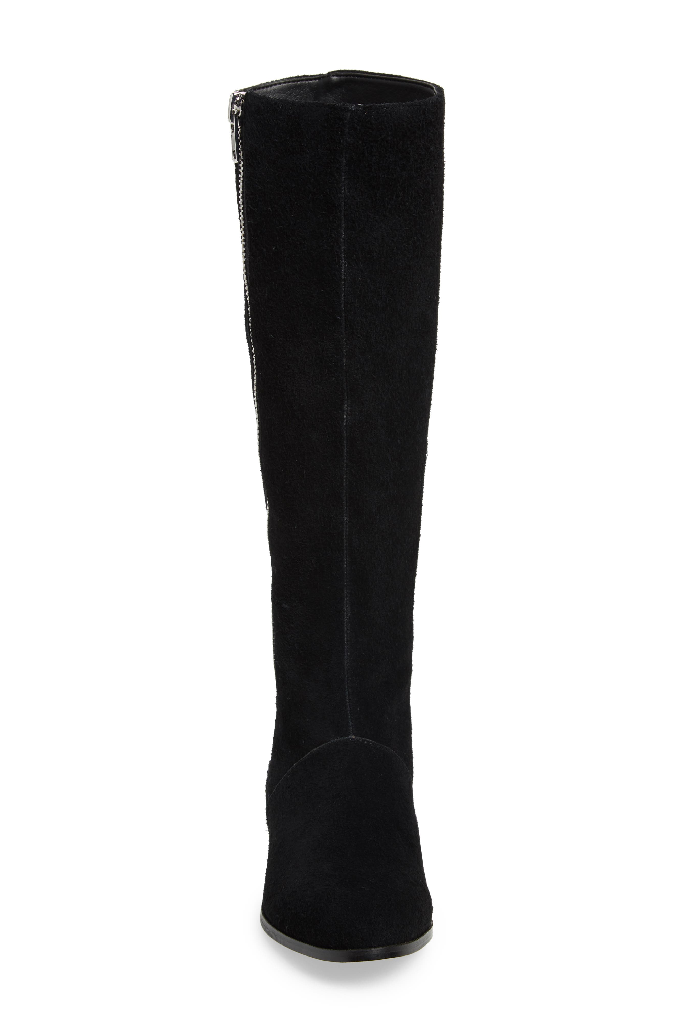 M4D3,                             Ramsey Knee High Boot,                             Alternate thumbnail 4, color,                             BLACK SUEDE