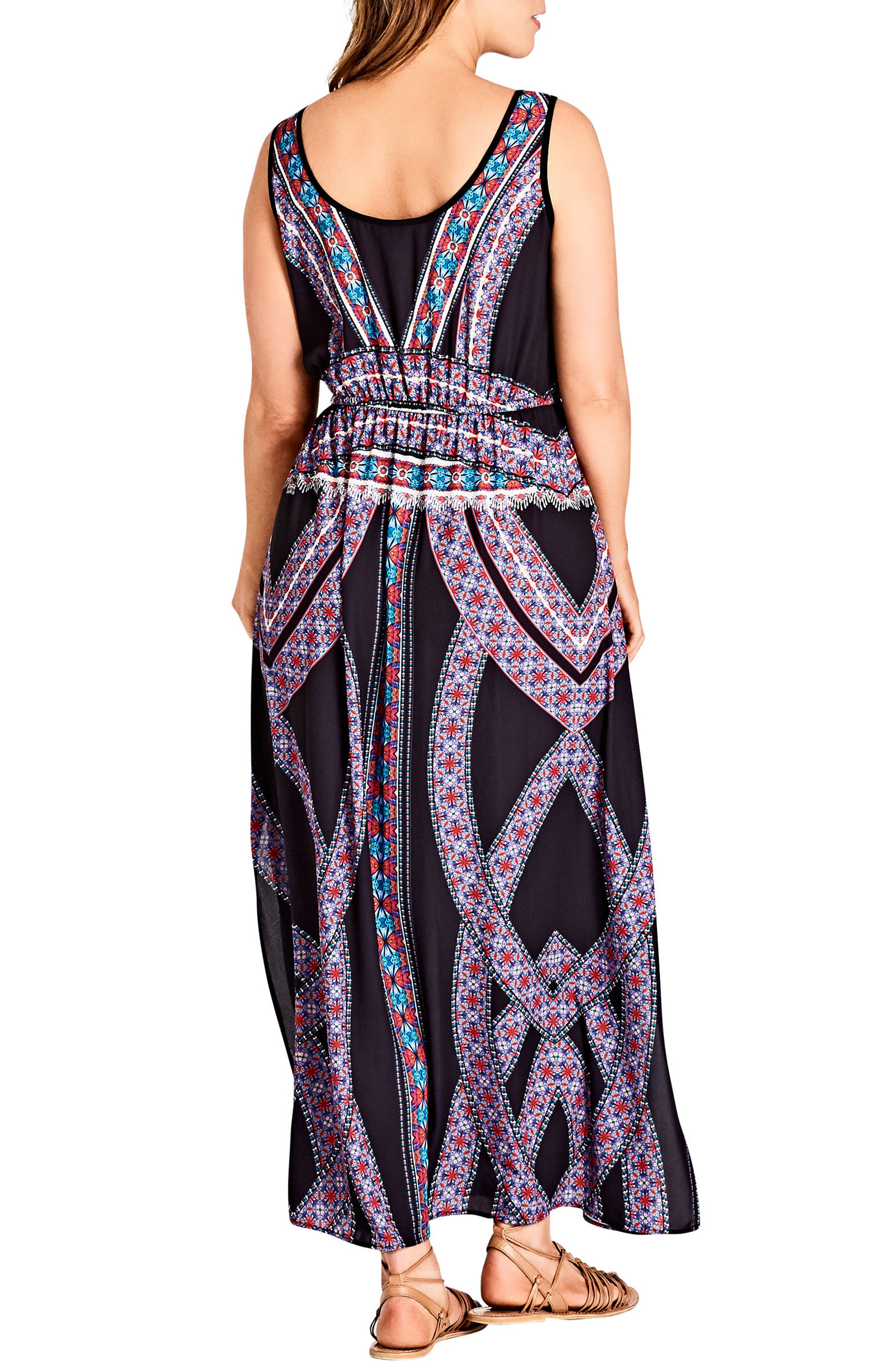 Brasilia Maxi Dress,                             Alternate thumbnail 2, color,                             001