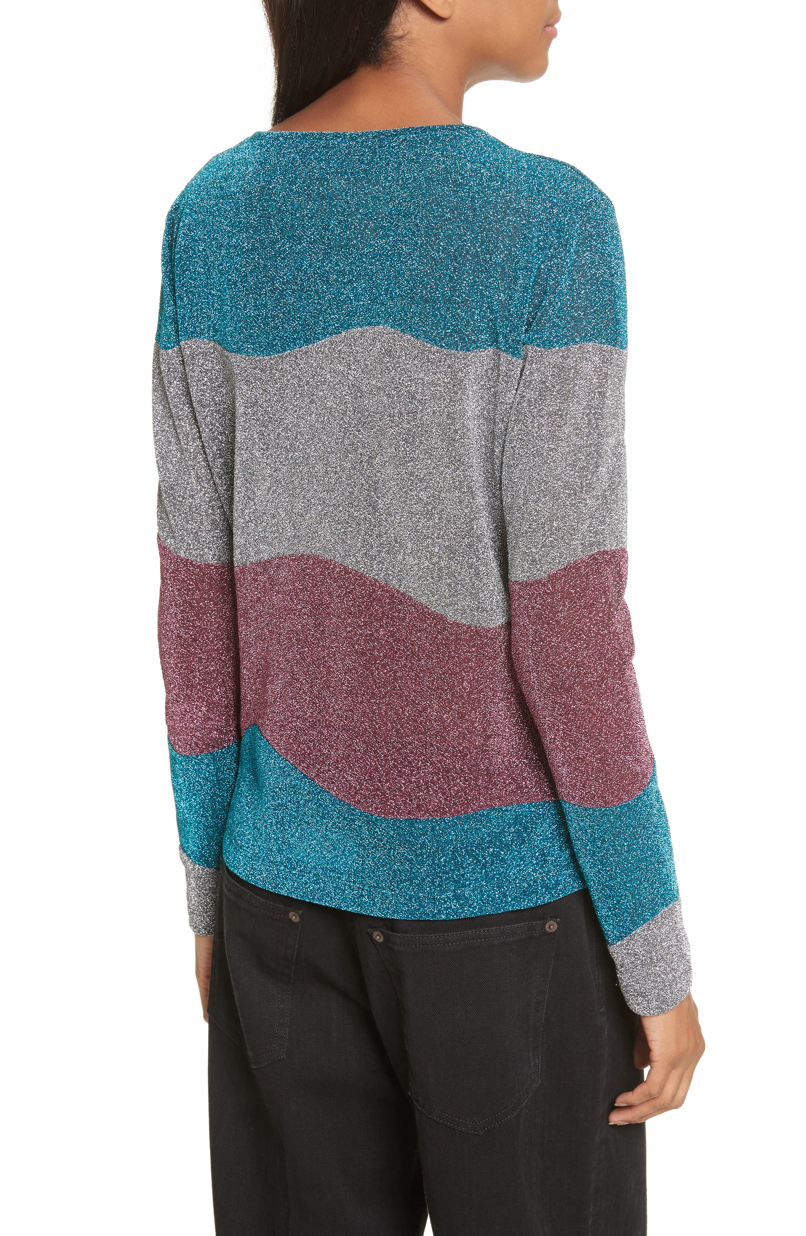Metallic Knit Sweater,                             Alternate thumbnail 2, color,