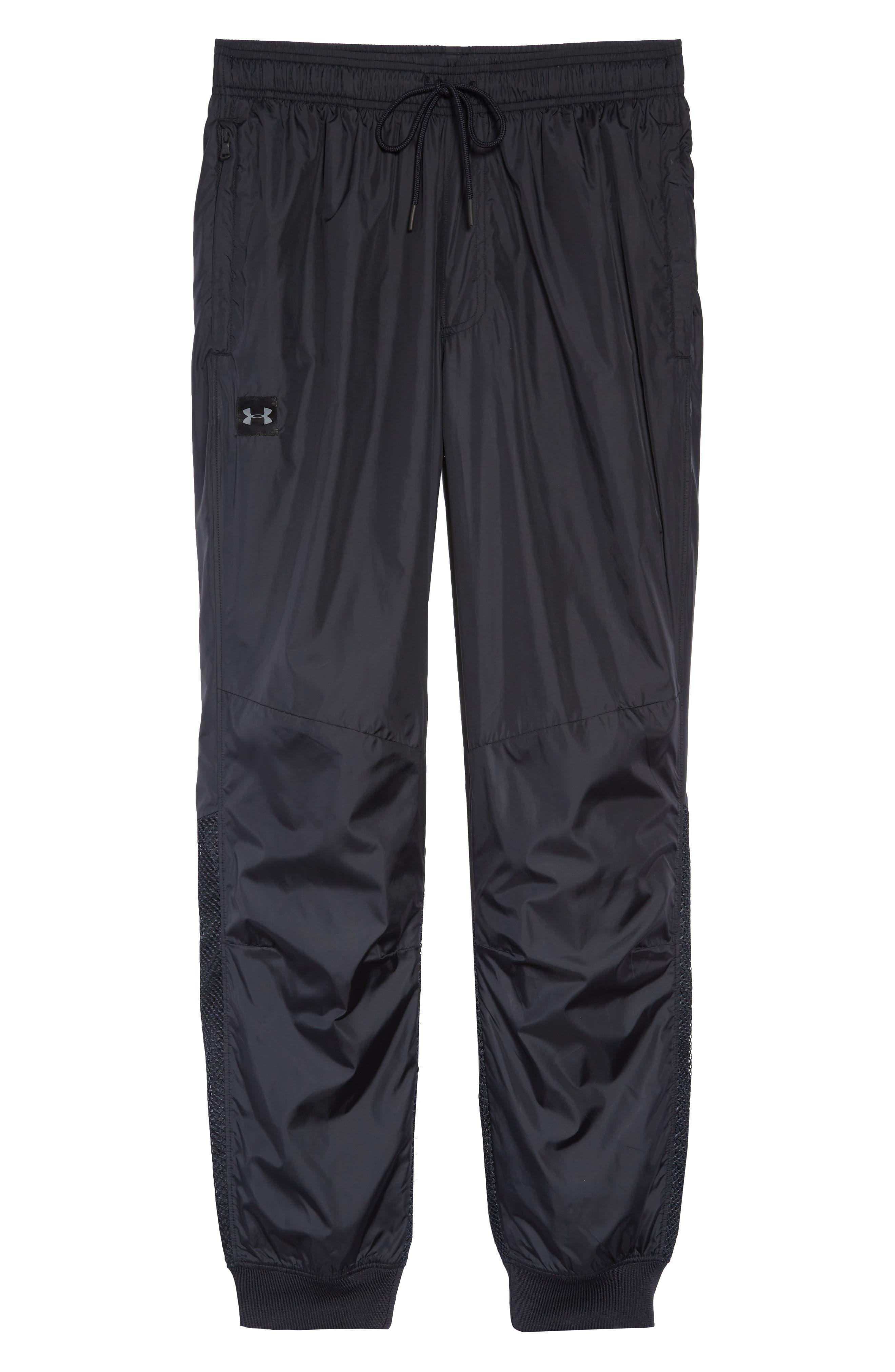 UNDER ARMOUR,                             Sportstyle Wind Pants,                             Alternate thumbnail 6, color,                             BLACK