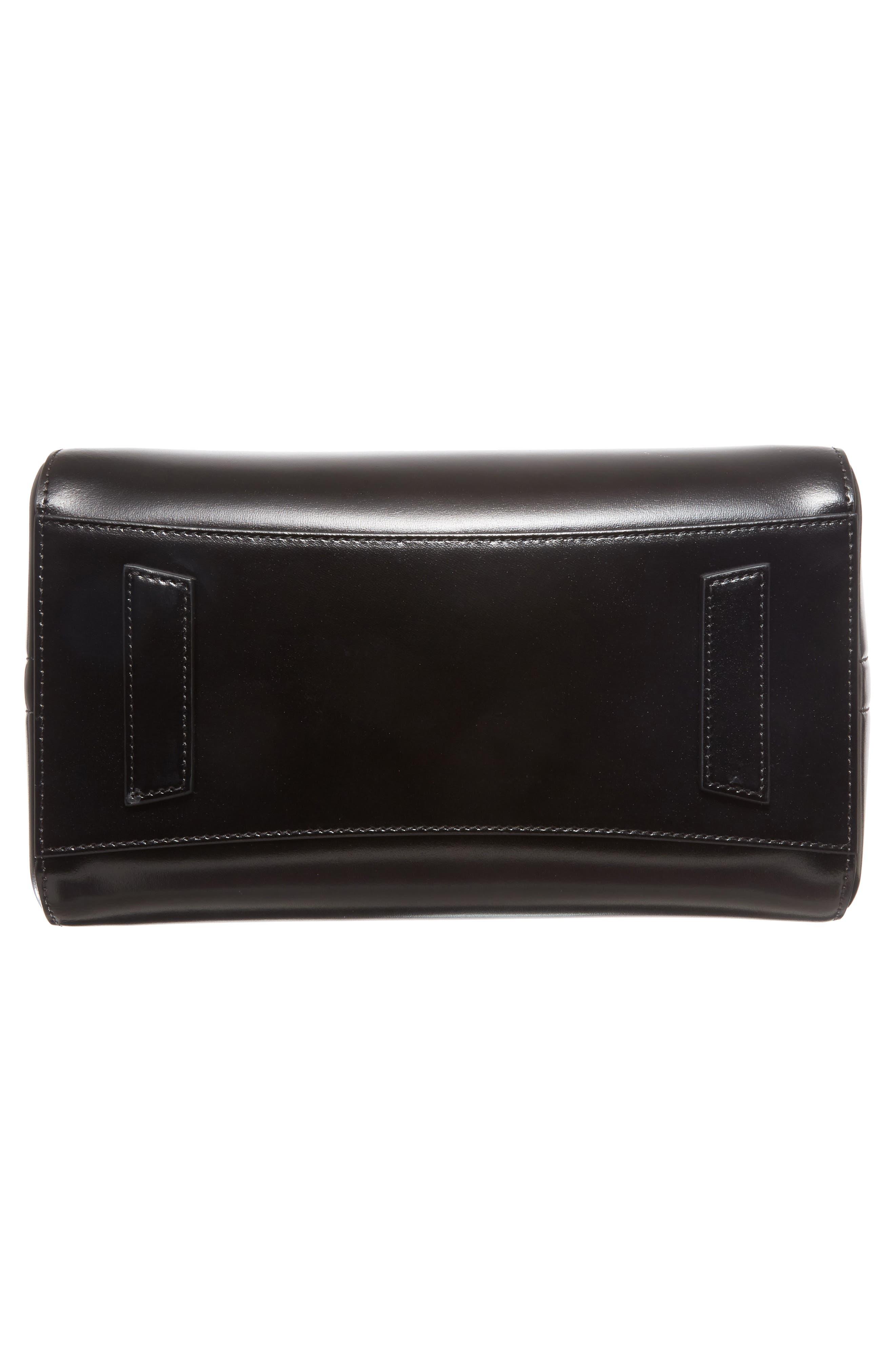 Small Antigona Box Leather Satchel,                             Alternate thumbnail 6, color,                             001