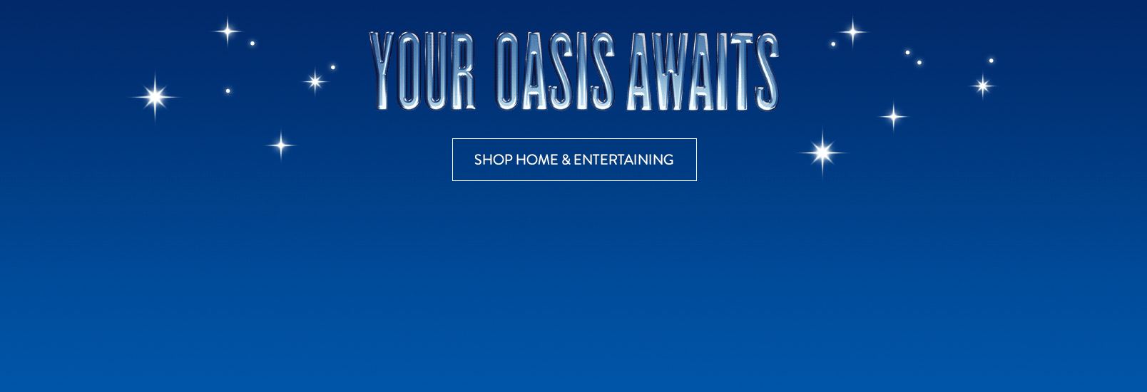 Your oasis awaits: a Beast blender, food and drinks.