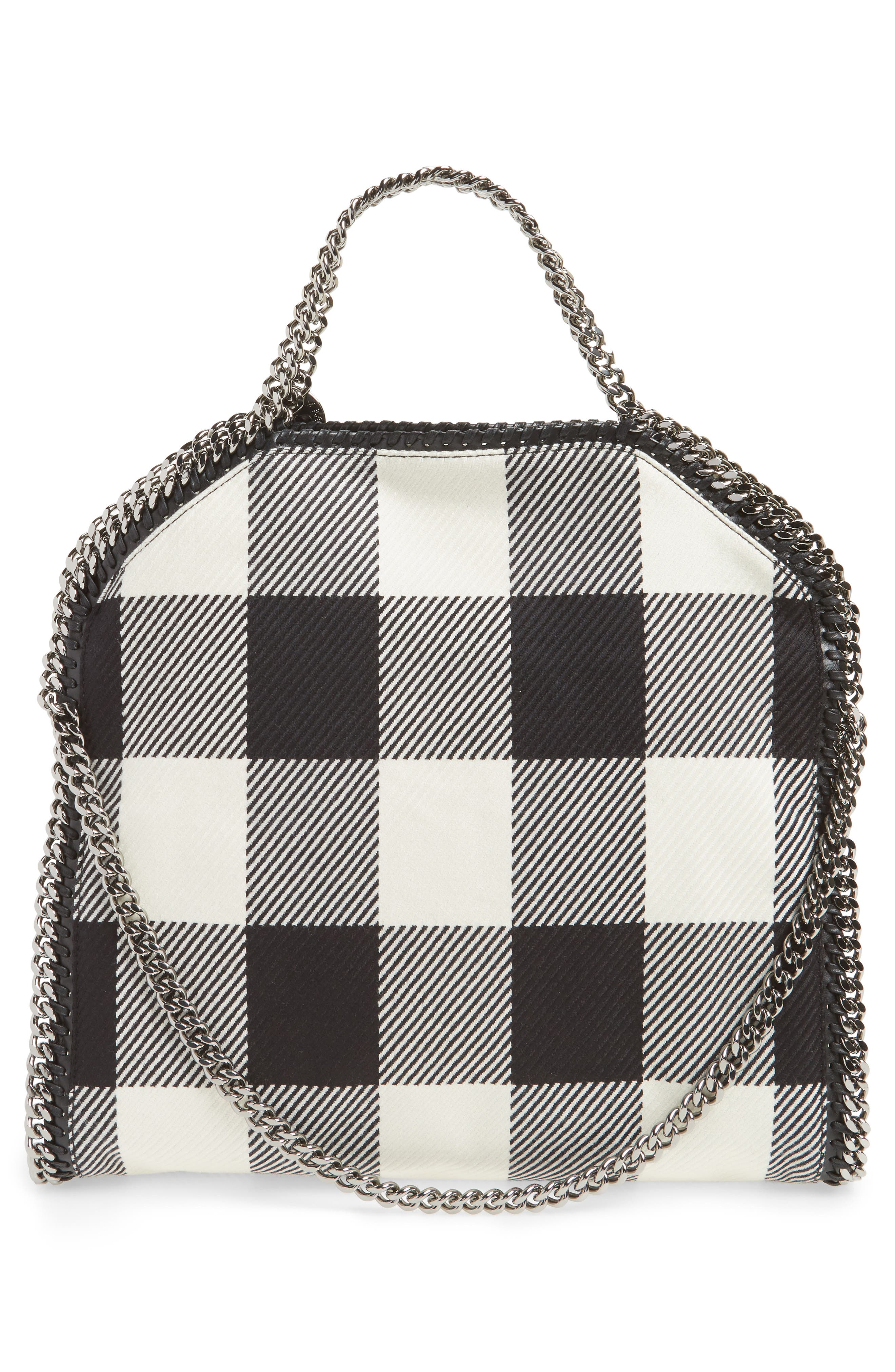 Falabella - Shaggy Deer Flannel Foldover Tote,                             Alternate thumbnail 3, color,                             001