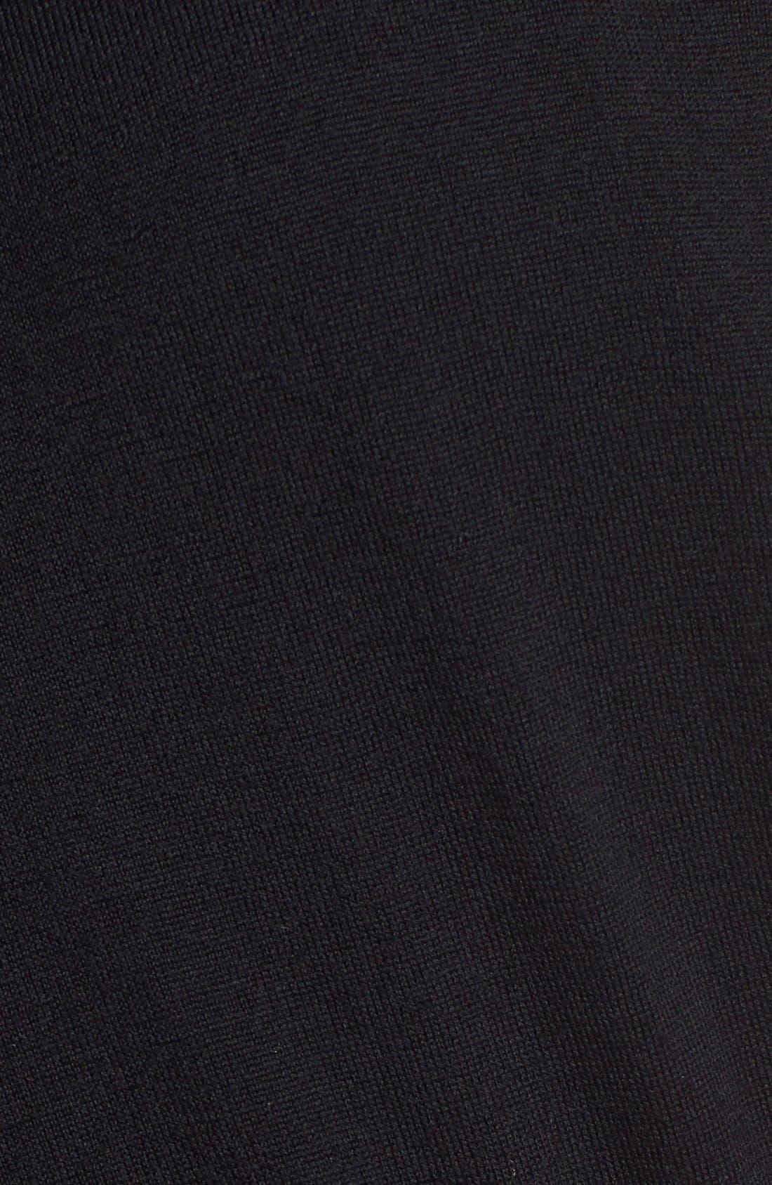 Regular Fit Crewneck Sweater,                             Alternate thumbnail 4, color,                             001