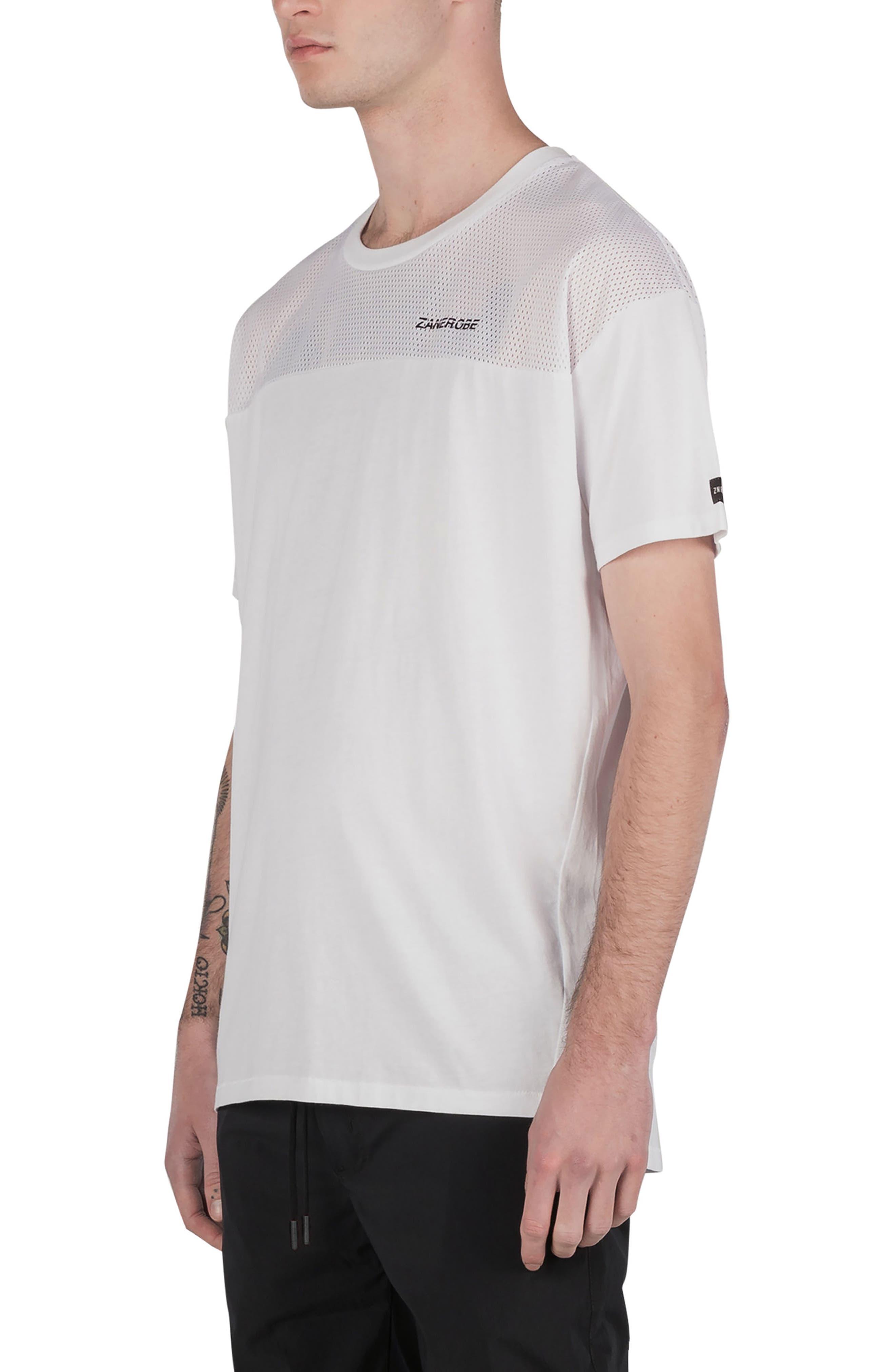 Mesh Rugger T-Shirt,                             Alternate thumbnail 5, color,                             100