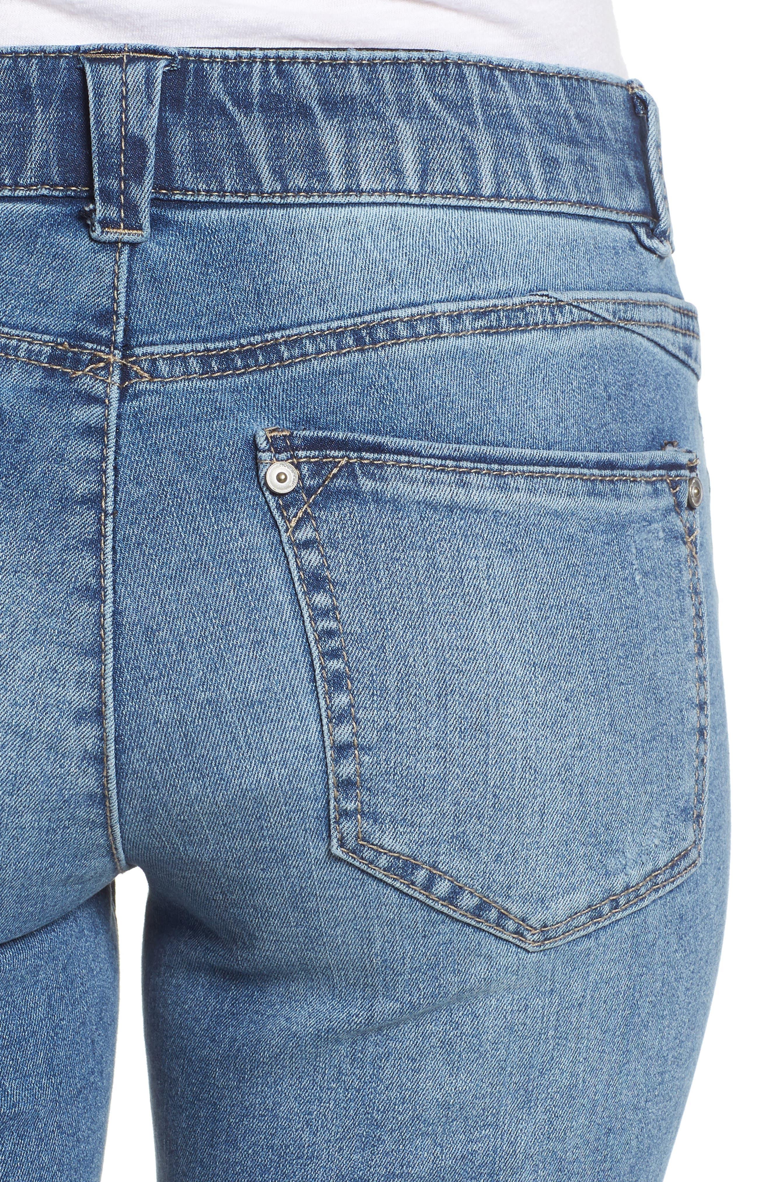 Ab-solution Ankle Skimmer Skinny Jeans Regular & Petite,                             Alternate thumbnail 4, color,                             458