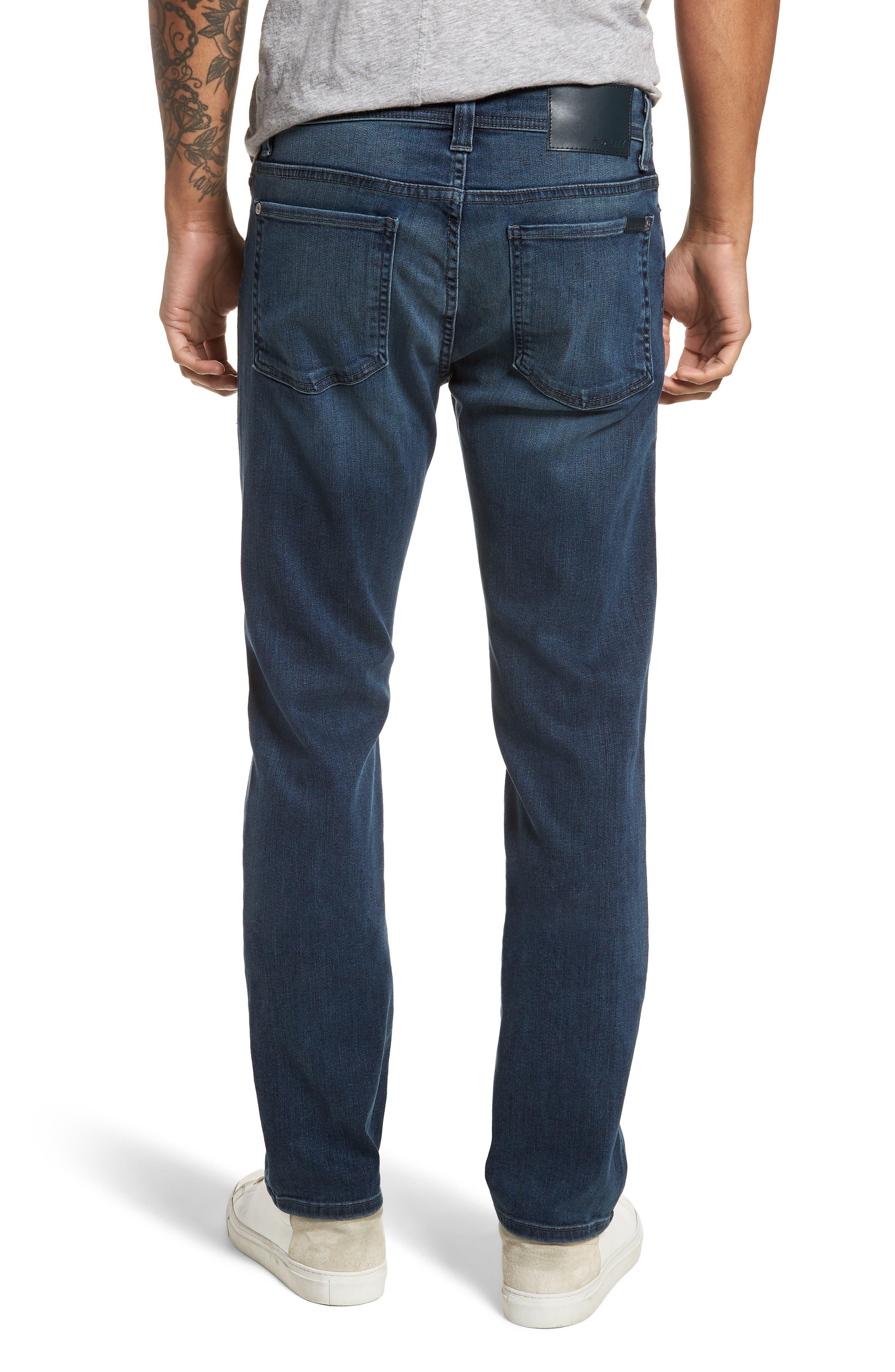 Jimmy Slim Straight Leg Jeans,                             Alternate thumbnail 2, color,                             ATLAS BLUE