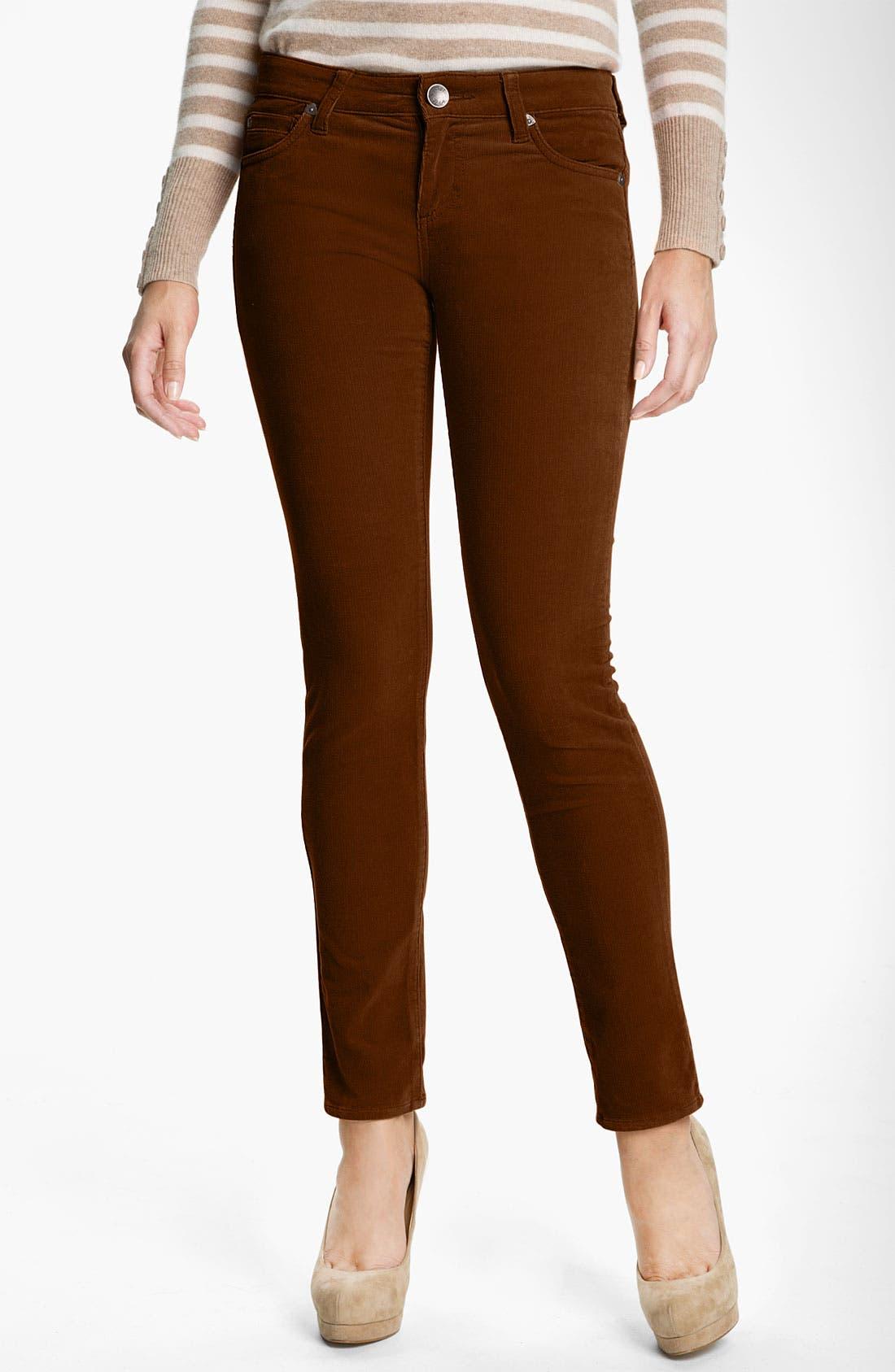 'Diana' Stretch Corduroy Skinny Pants,                             Main thumbnail 21, color,