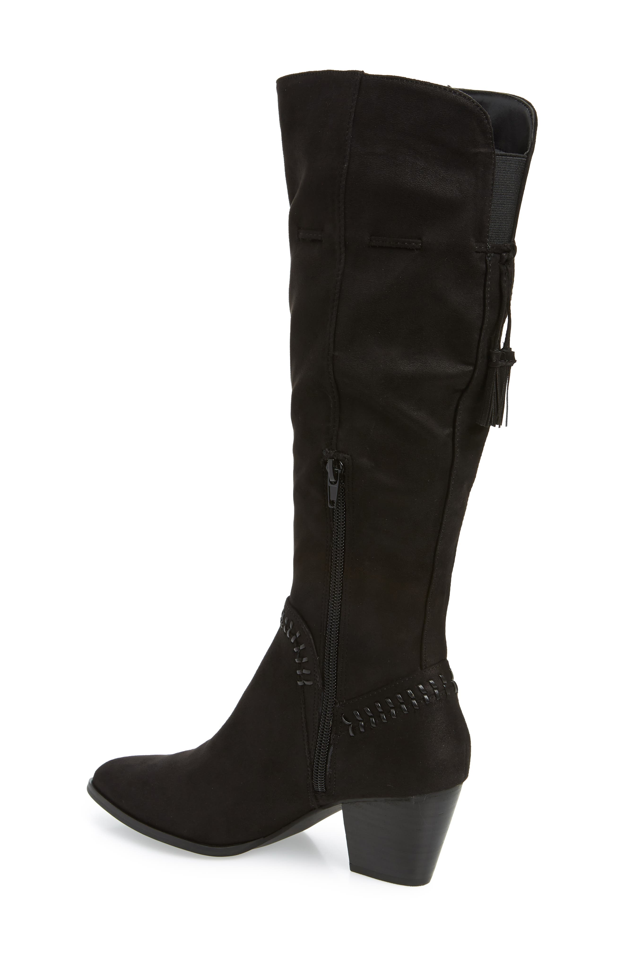 Eleanor II Knee High Boot,                             Alternate thumbnail 2, color,                             BLACK