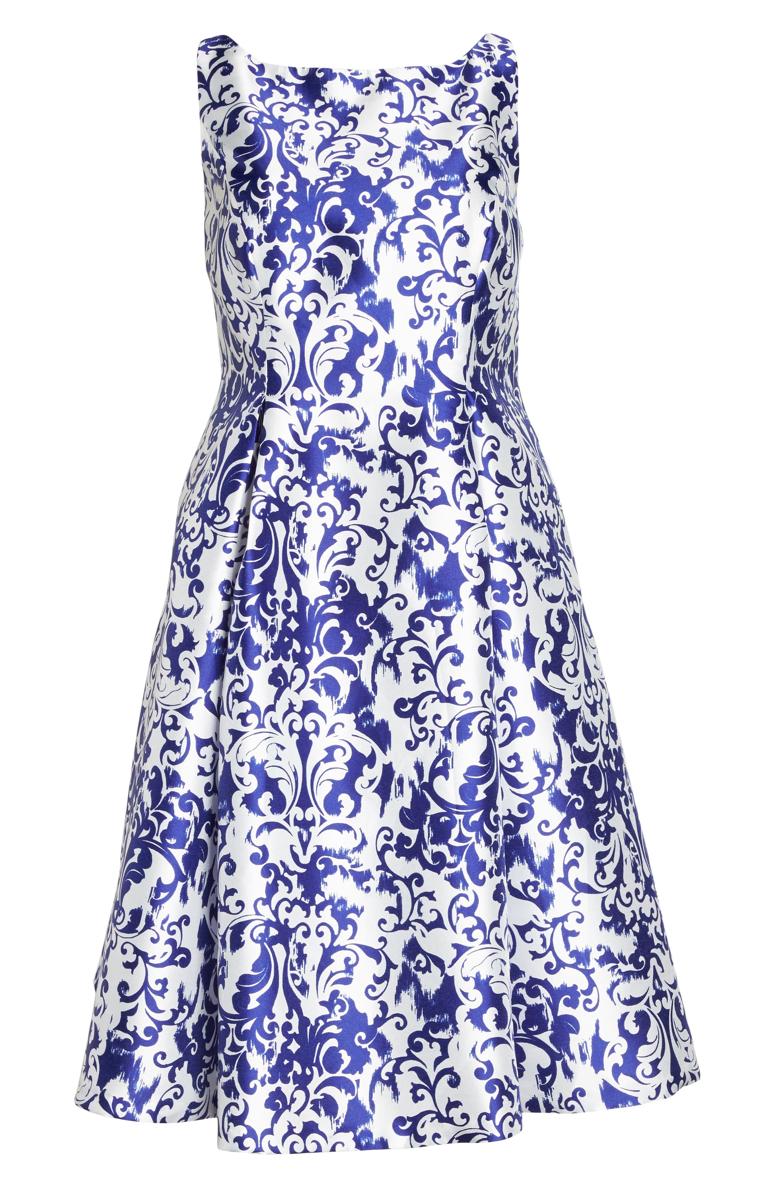 Fit & Flare Dress,                             Alternate thumbnail 6, color,                             480