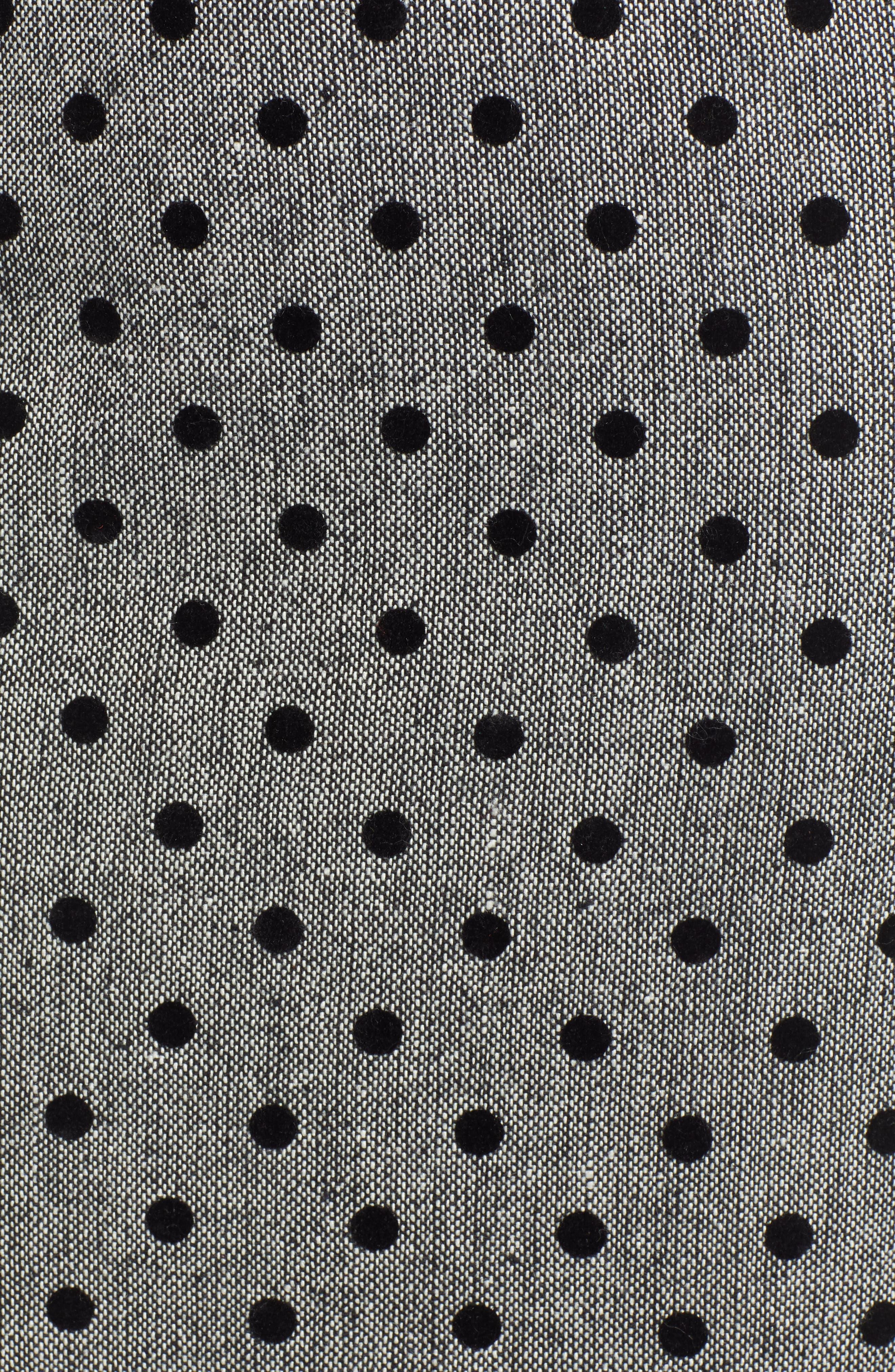 Dot Pencil Skirt,                             Alternate thumbnail 5, color,                             GREY- BLACK DOT