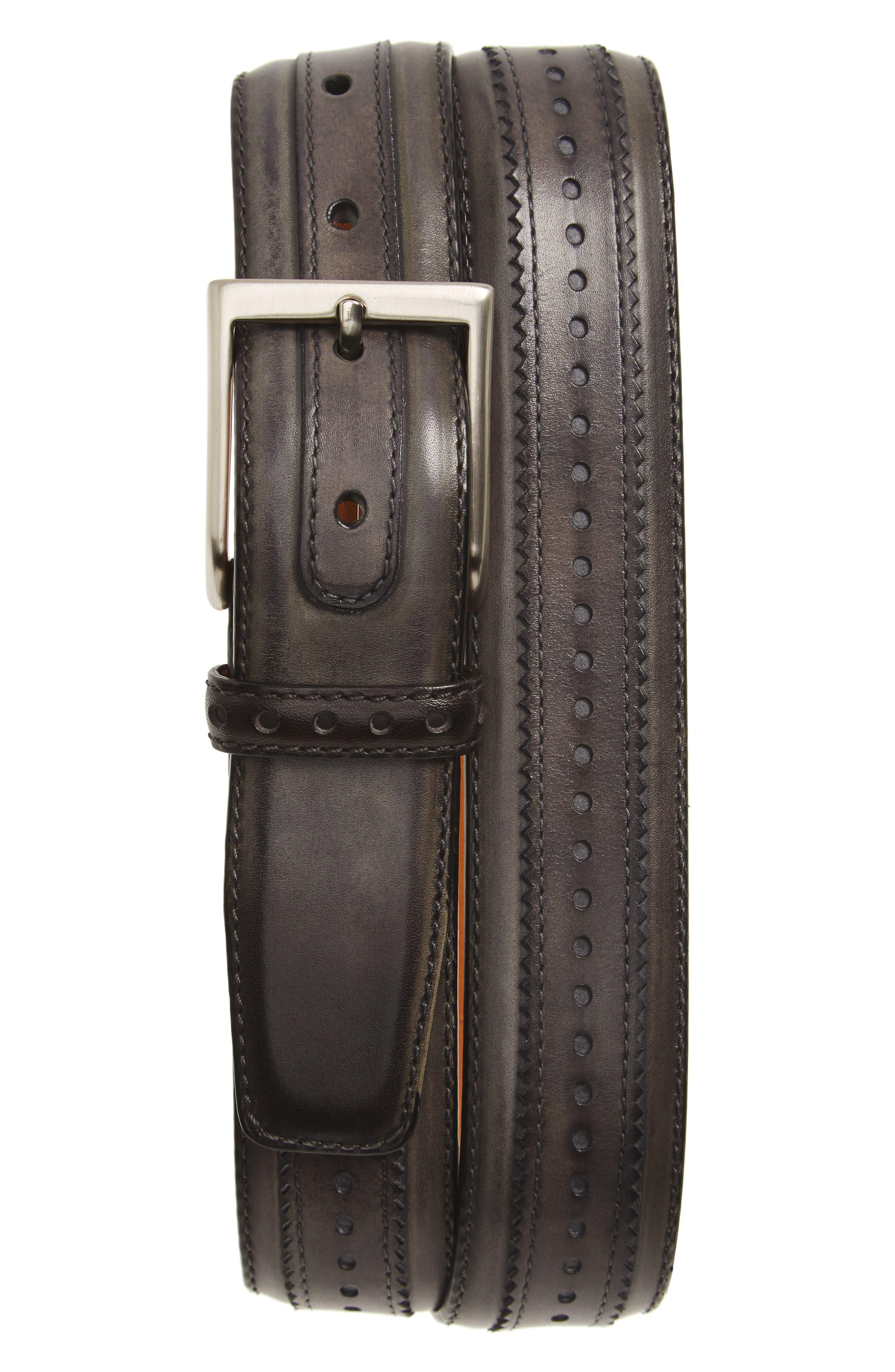 Flash Leather Belt,                         Main,                         color, 020