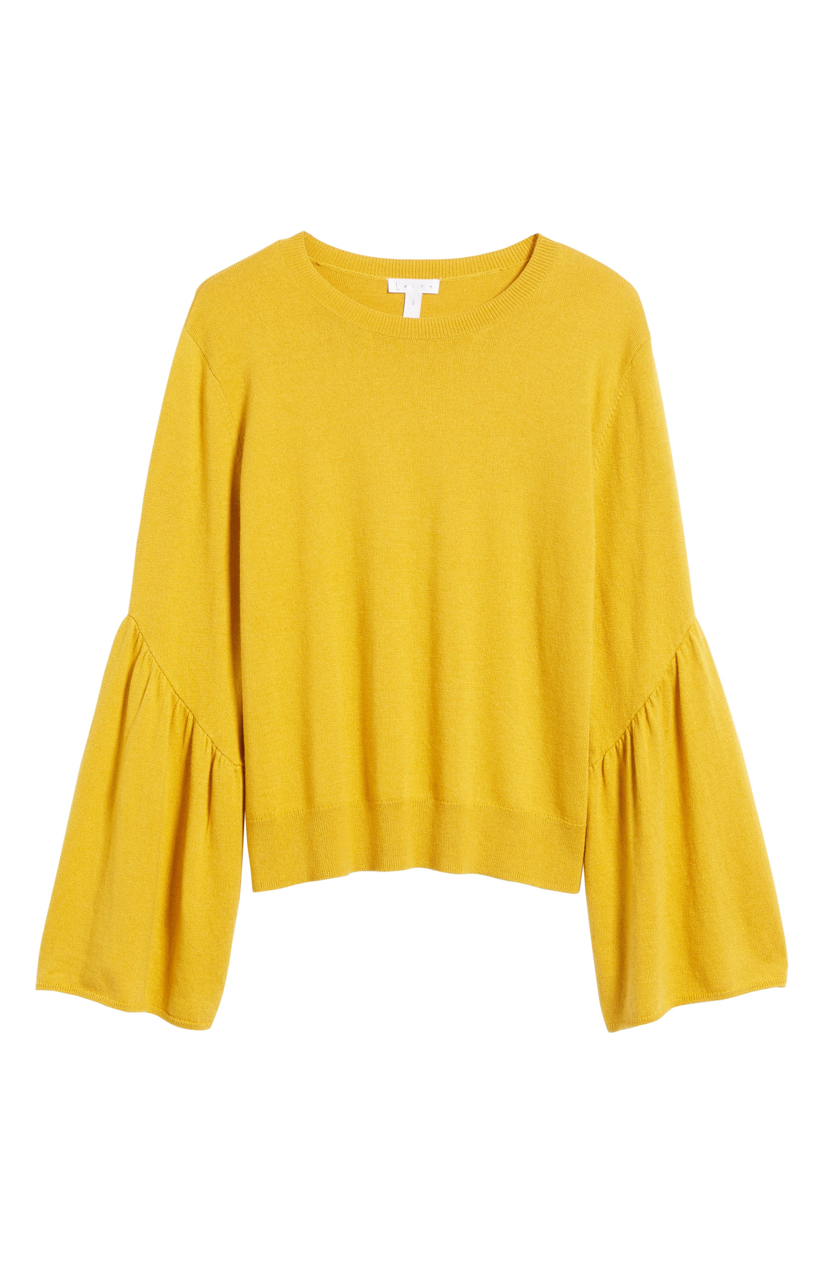 LEITH,                             Bell Sleeve Sweater,                             Alternate thumbnail 6, color,                             700