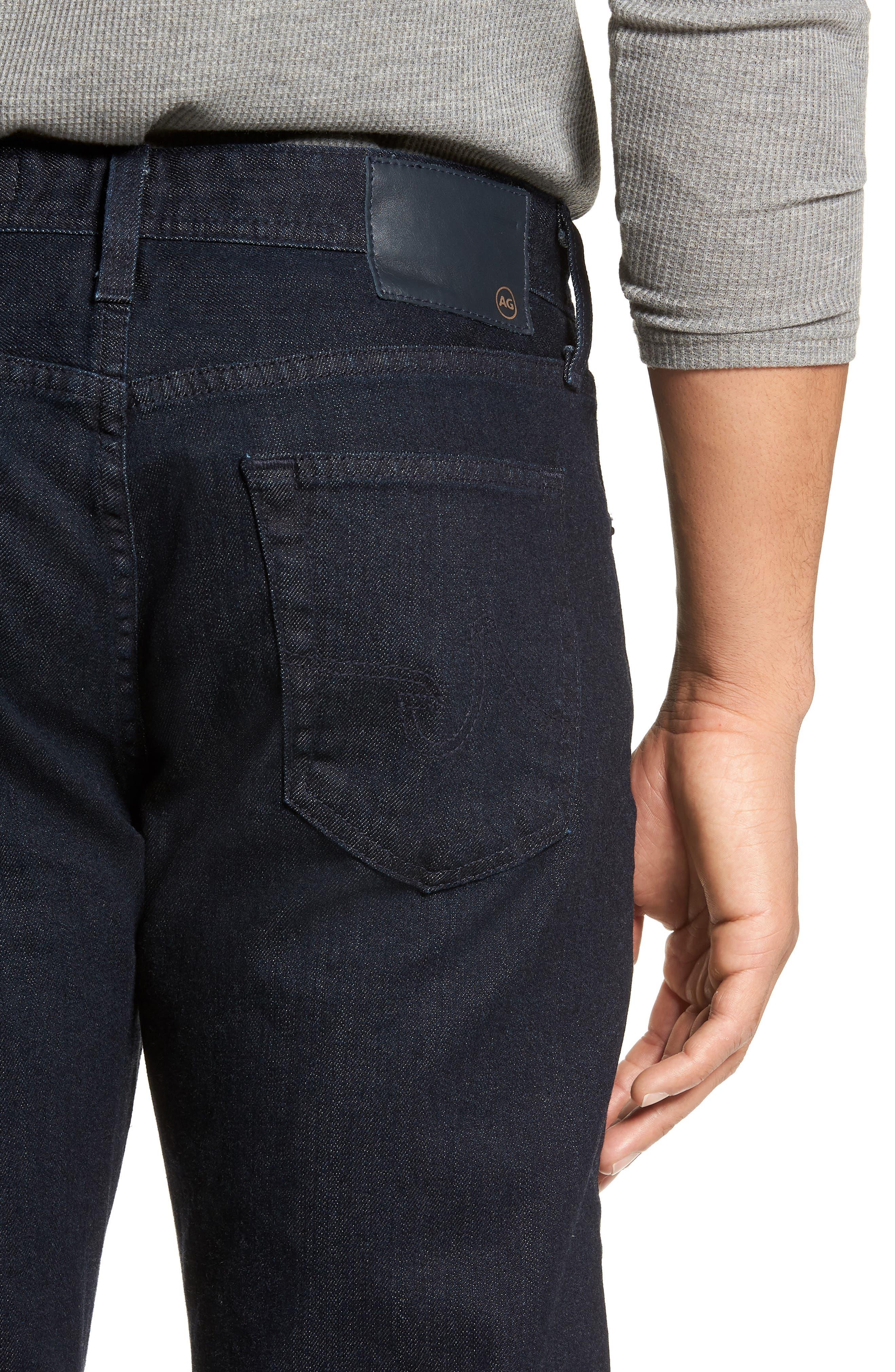 Graduate Slim Straight Leg Jeans,                             Alternate thumbnail 4, color,                             STELLAR