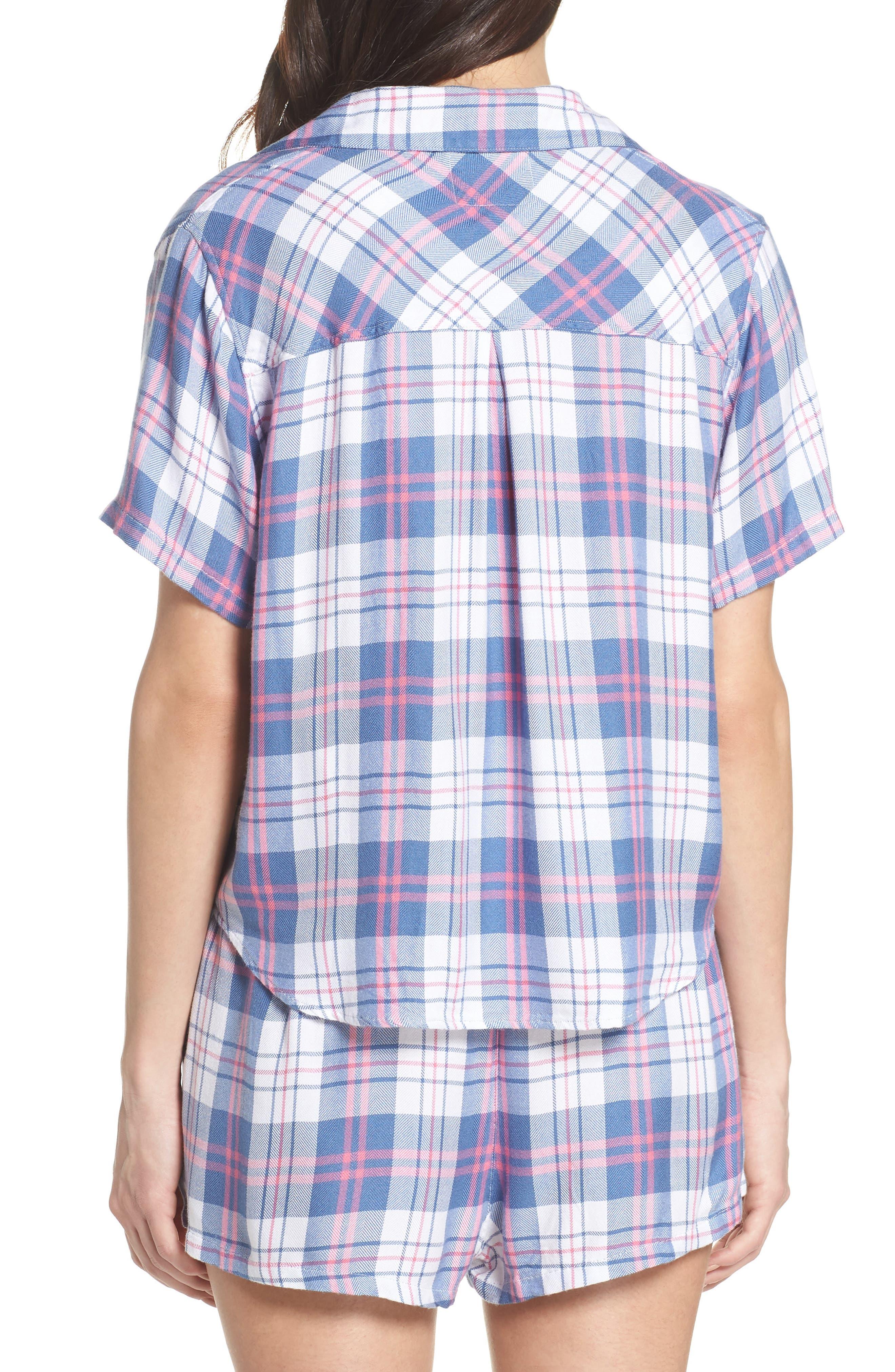 Plaid Short Pajamas,                             Alternate thumbnail 2, color,                             400